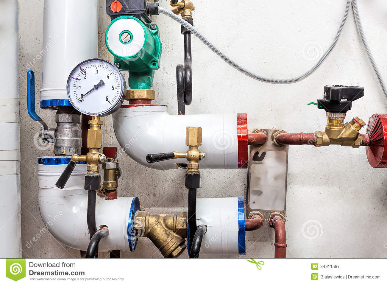 valves of a heating system royalty free stock photography image 34911587. Black Bedroom Furniture Sets. Home Design Ideas