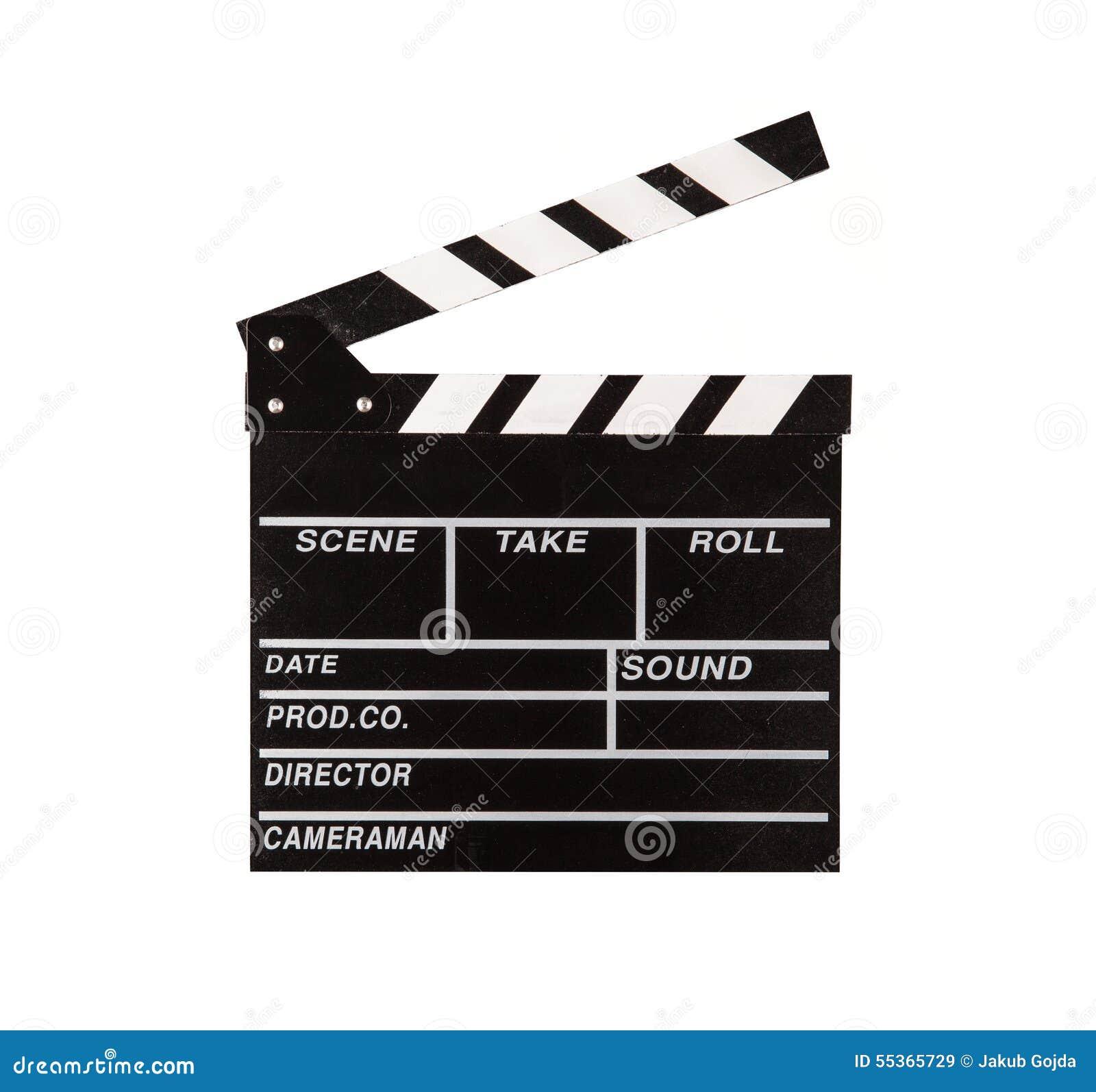 Valvola del film su fondo bianco