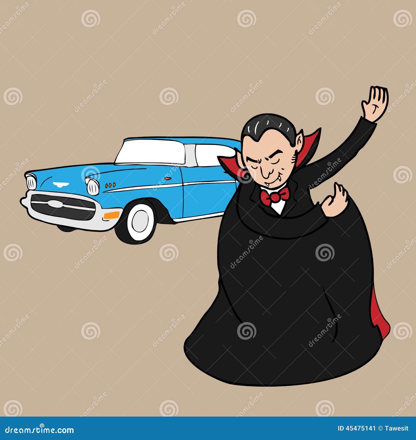 Vampire Classic Car Stock Vector - Image: 45475141