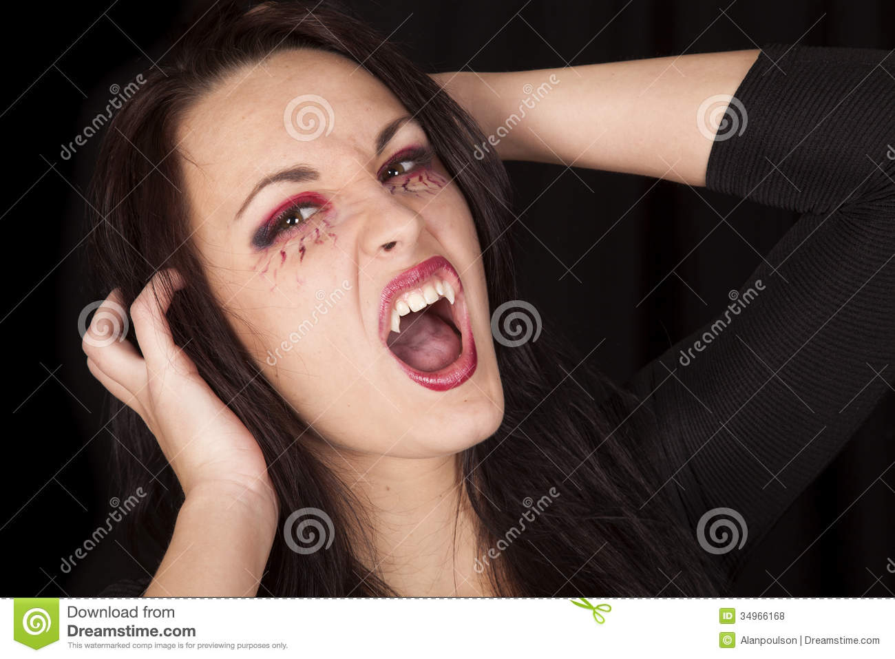 Vampire Close Fangs Hands Up Royalty Free Stock Photos - Image ... Angry Black Woman Face