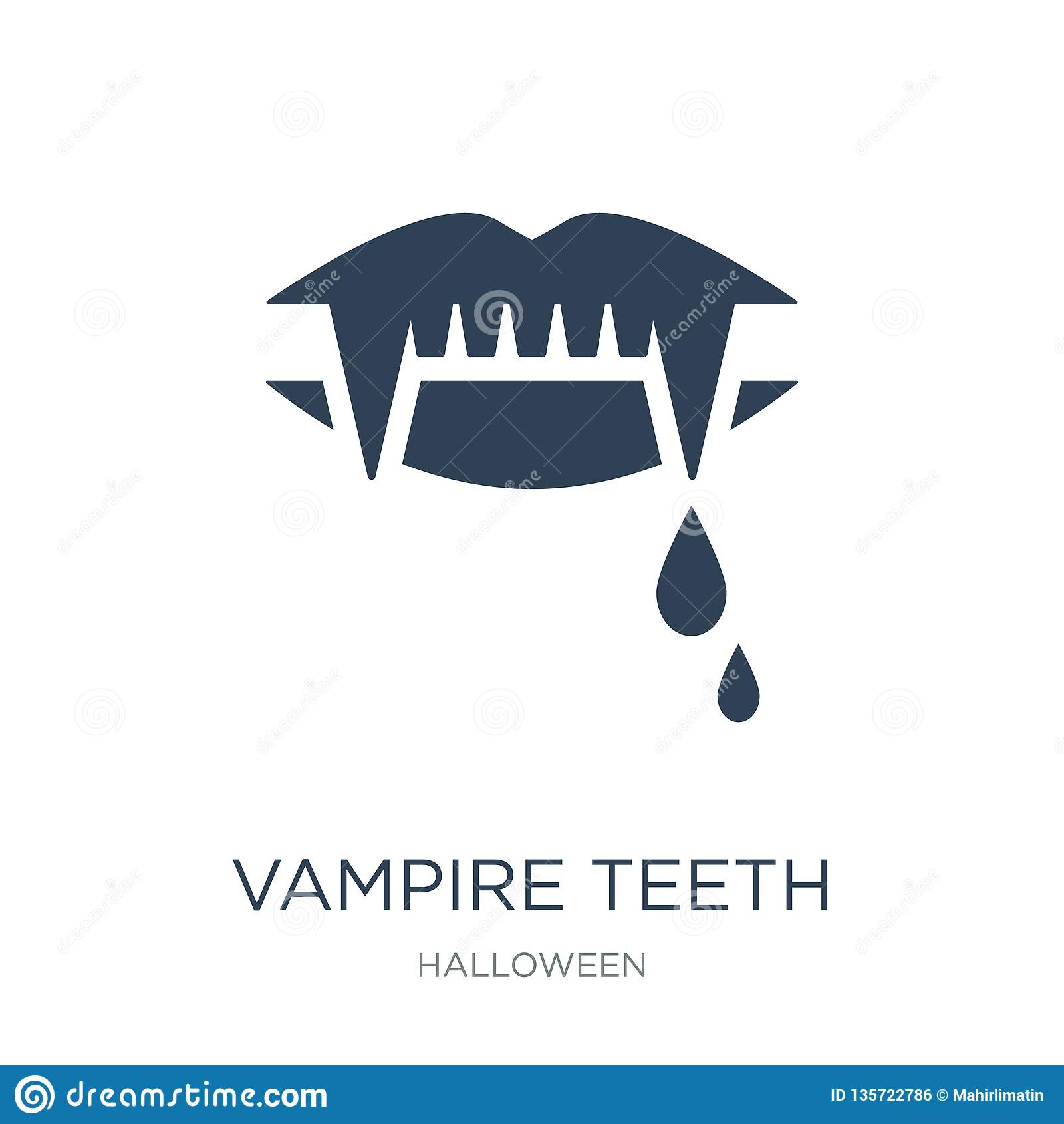 vampire teeth icon in trendy design style. vampire teeth icon isolated on white background. vampire teeth vector icon simple and