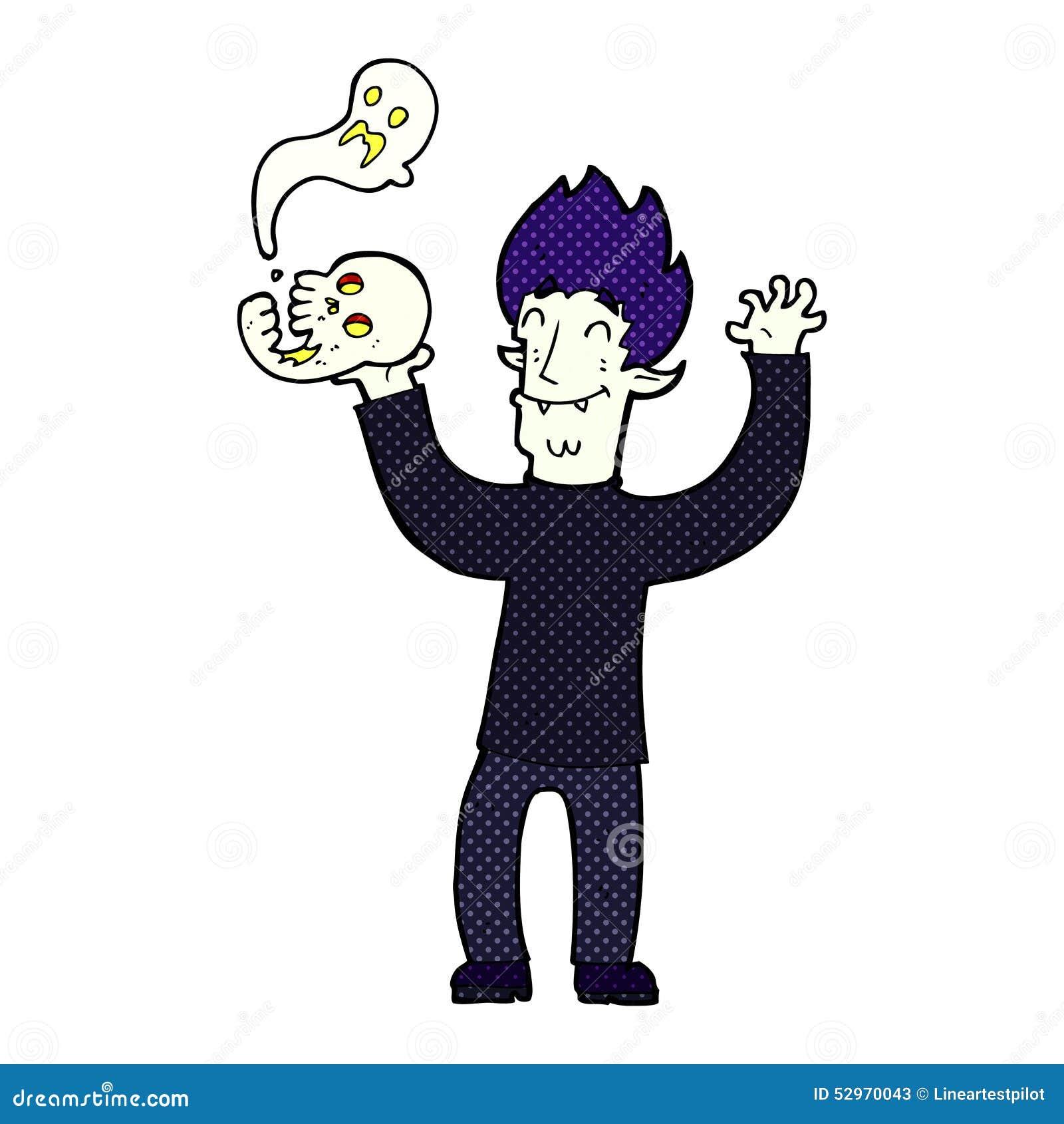 vampiro assustador dos desenhos animados ilustração stock