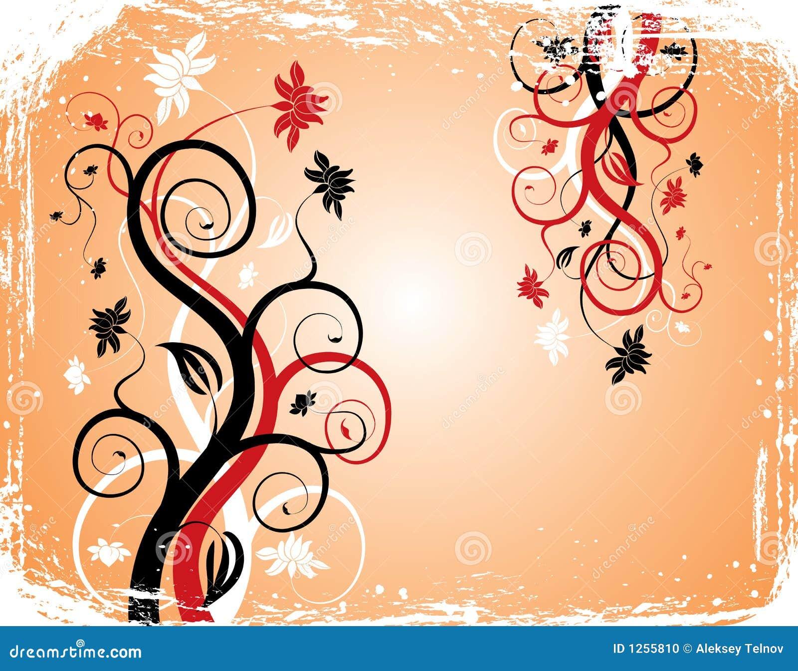 Van Achtergrond grunge bloem, elementen voor ontwerp, vector