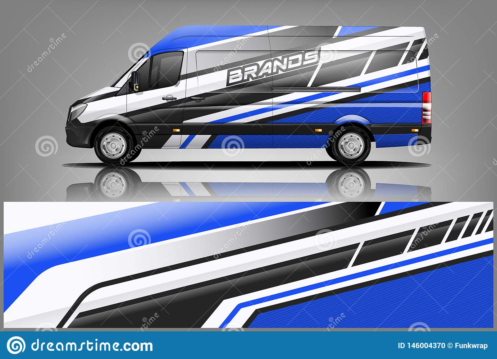 Van car Wrap σχέδιο για την επιχείρηση