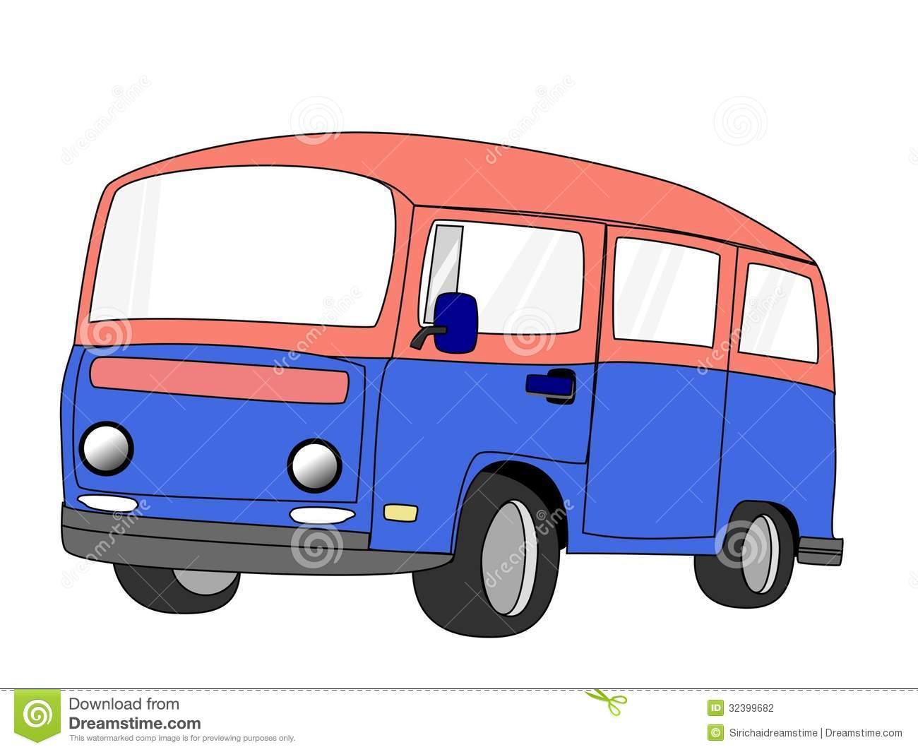 Van Cartoon Stock Photography - Image: 32399682
