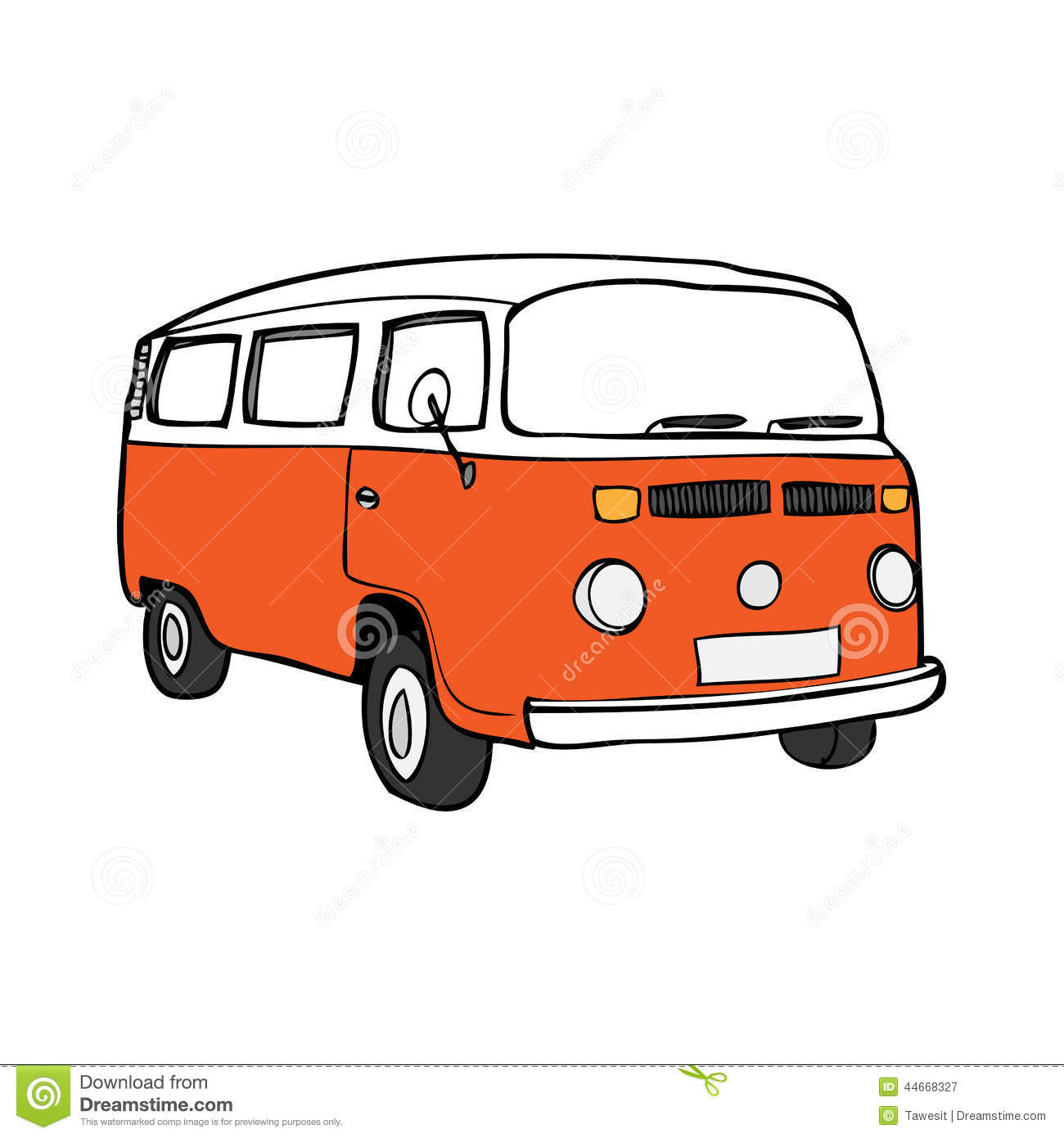 Van Stock Vector Illustration Of Peace Minivan America