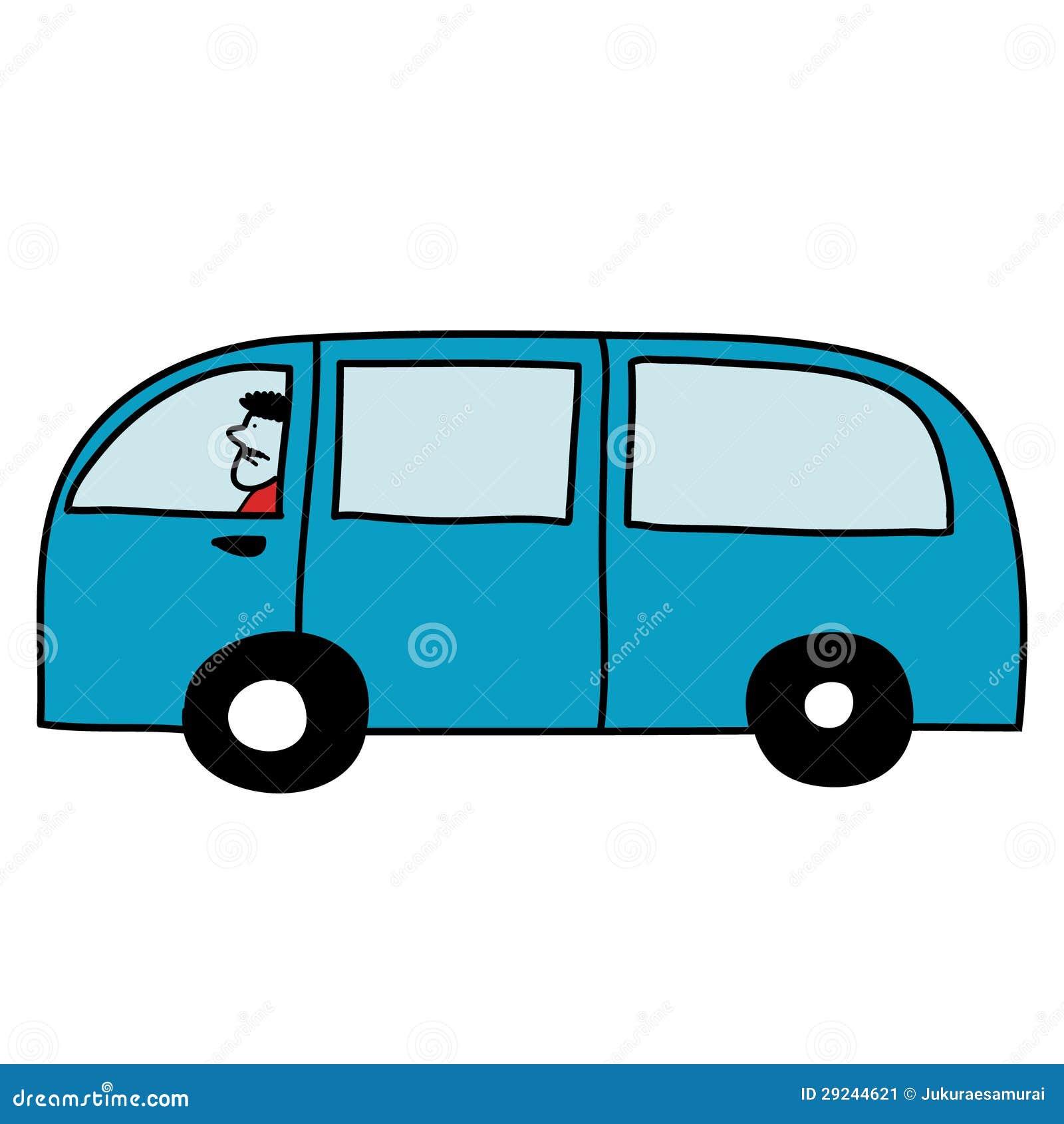 Download Van com motorista ilustração do vetor. Ilustração de automóvel - 29244621