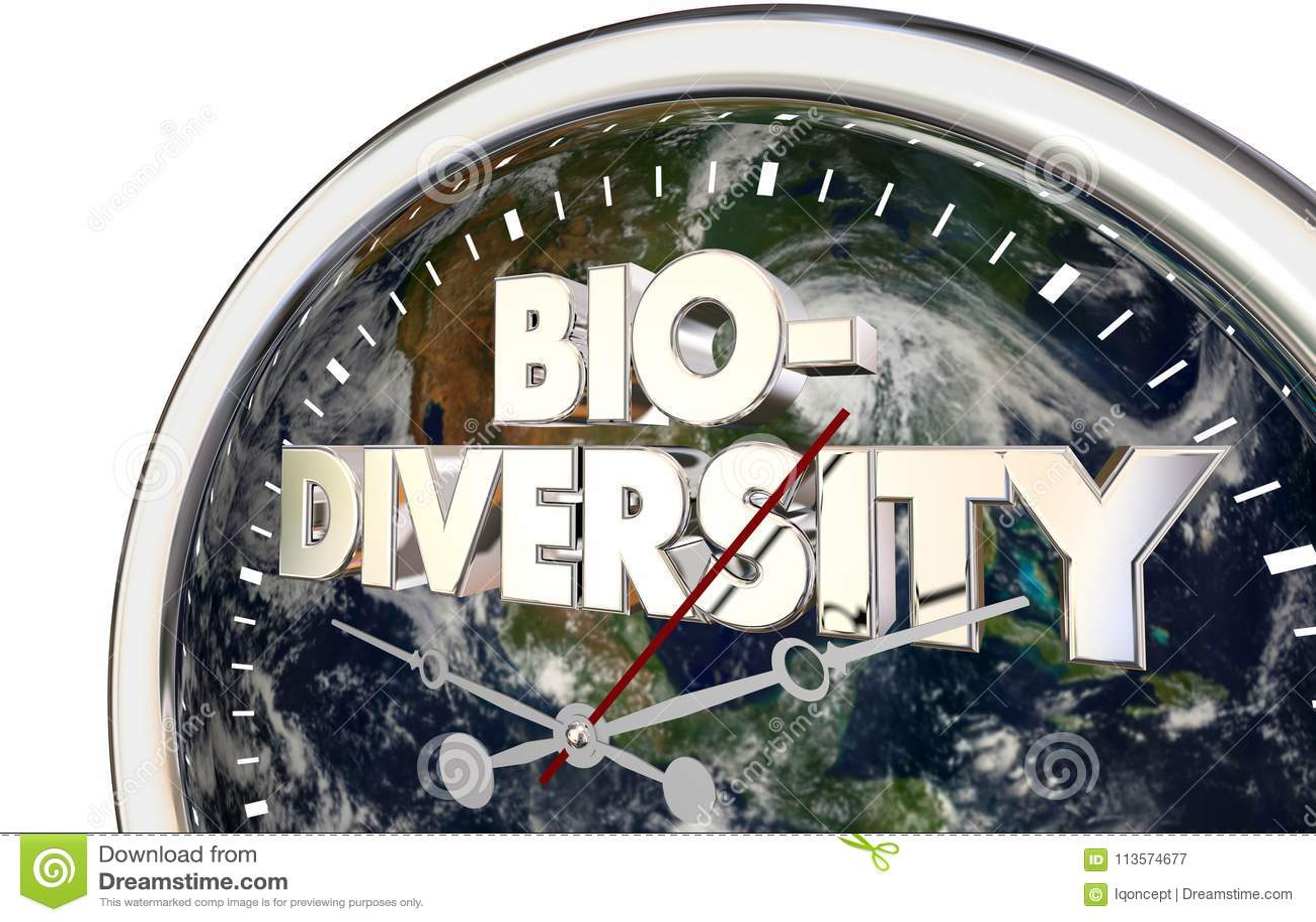 Van de de Aardeklok van de biodiversiteitswereld de Tijd 3d Illustratie