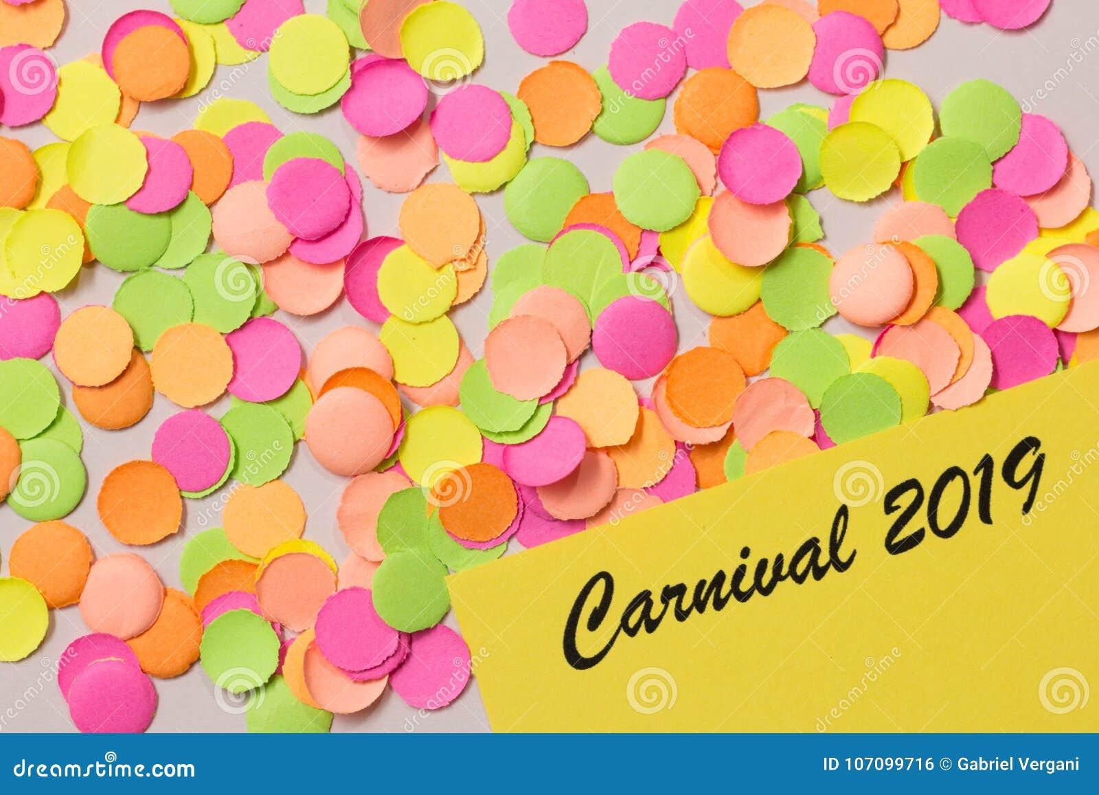 Van de Achtergrond carnavalpartij concept Ruimte voor tekst, copyspace Wr