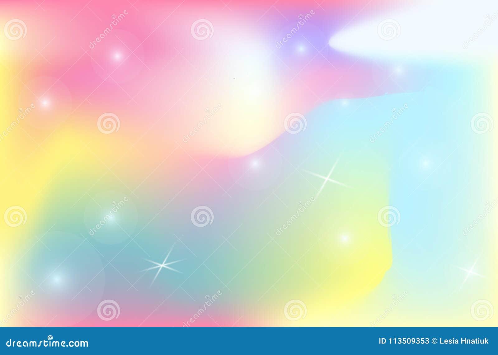 Van de van de achtergrond eenhoornachtergrond het netwerk vectorheelal kleurengradiënt