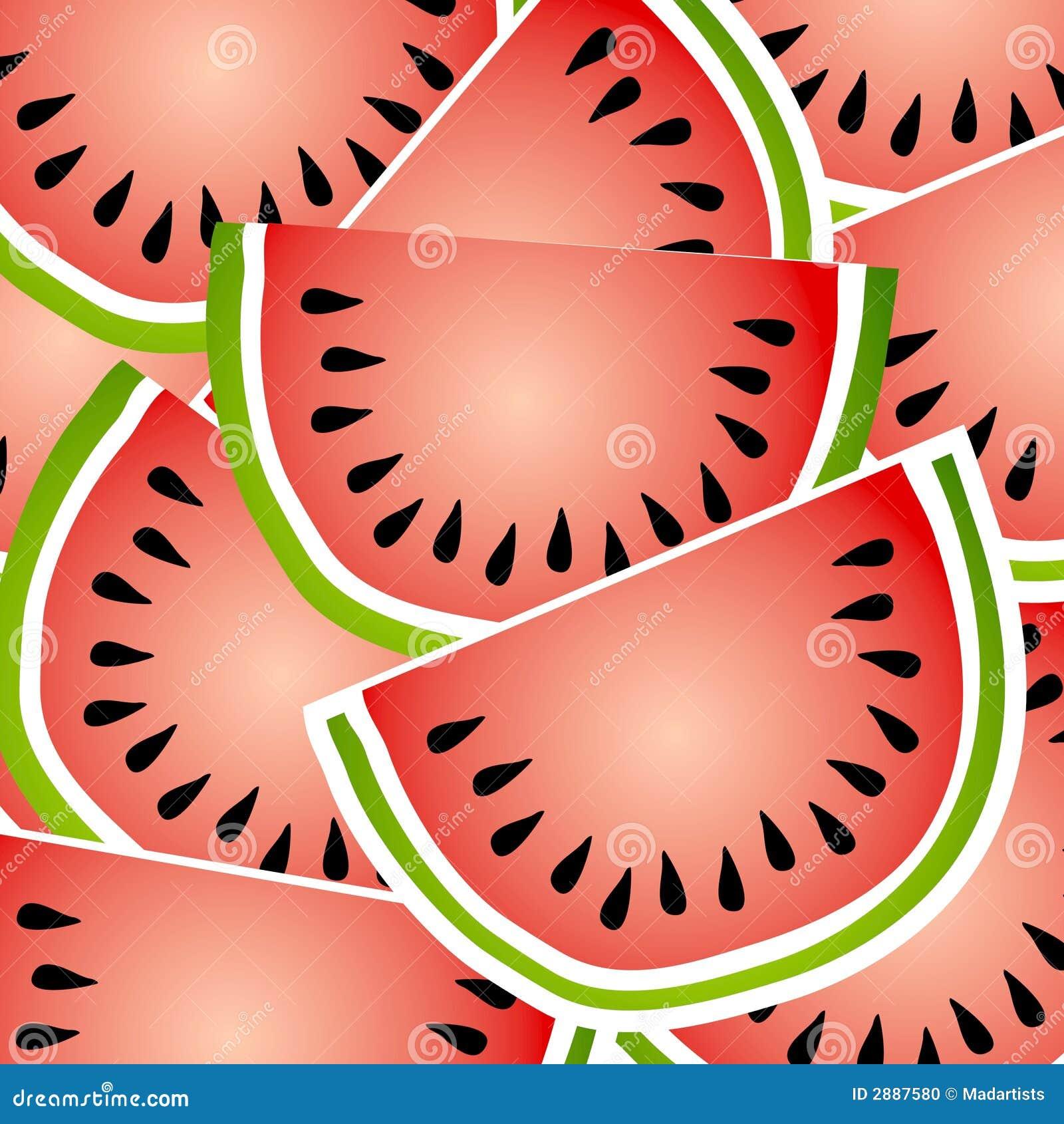 Van de achtergrond watermeloen Patroon