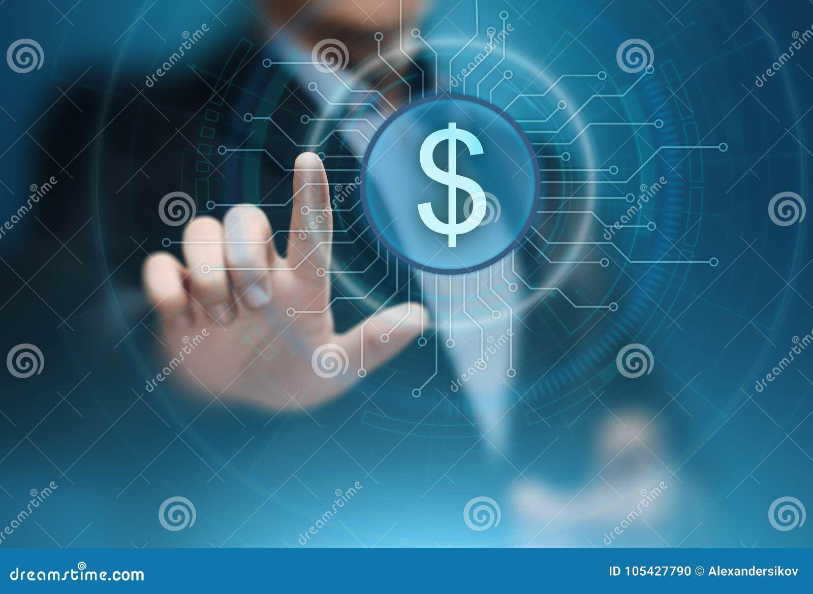 Van van de bedrijfs dollarmunt de Technologieconcept Bankwezenfinanciën