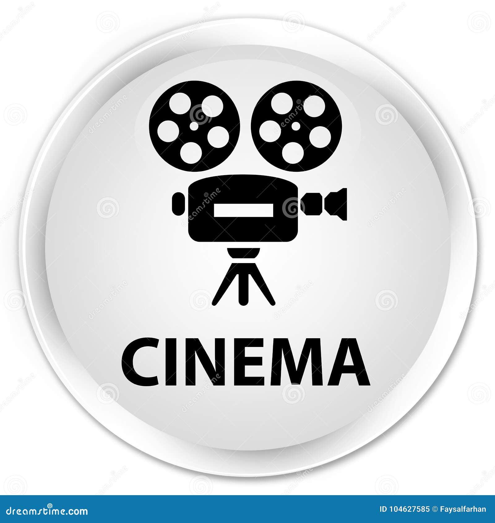 Download Van De Bioskoop (videocamerapictogram) Premie De Witte Ronde Knoop Stock Illustratie - Illustratie bestaande uit pictogram, bioskoop: 104627585