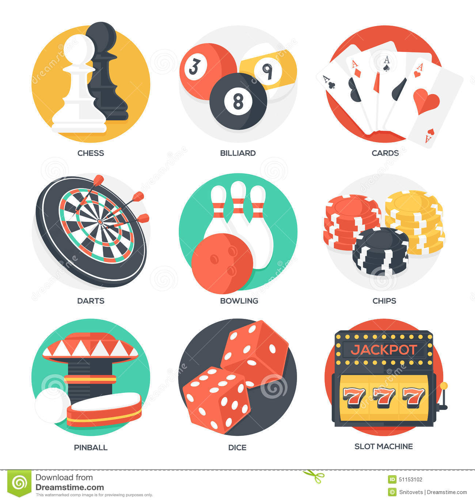 Van De Casinosport En Vrije Tijd Spelenpictogrammen (het