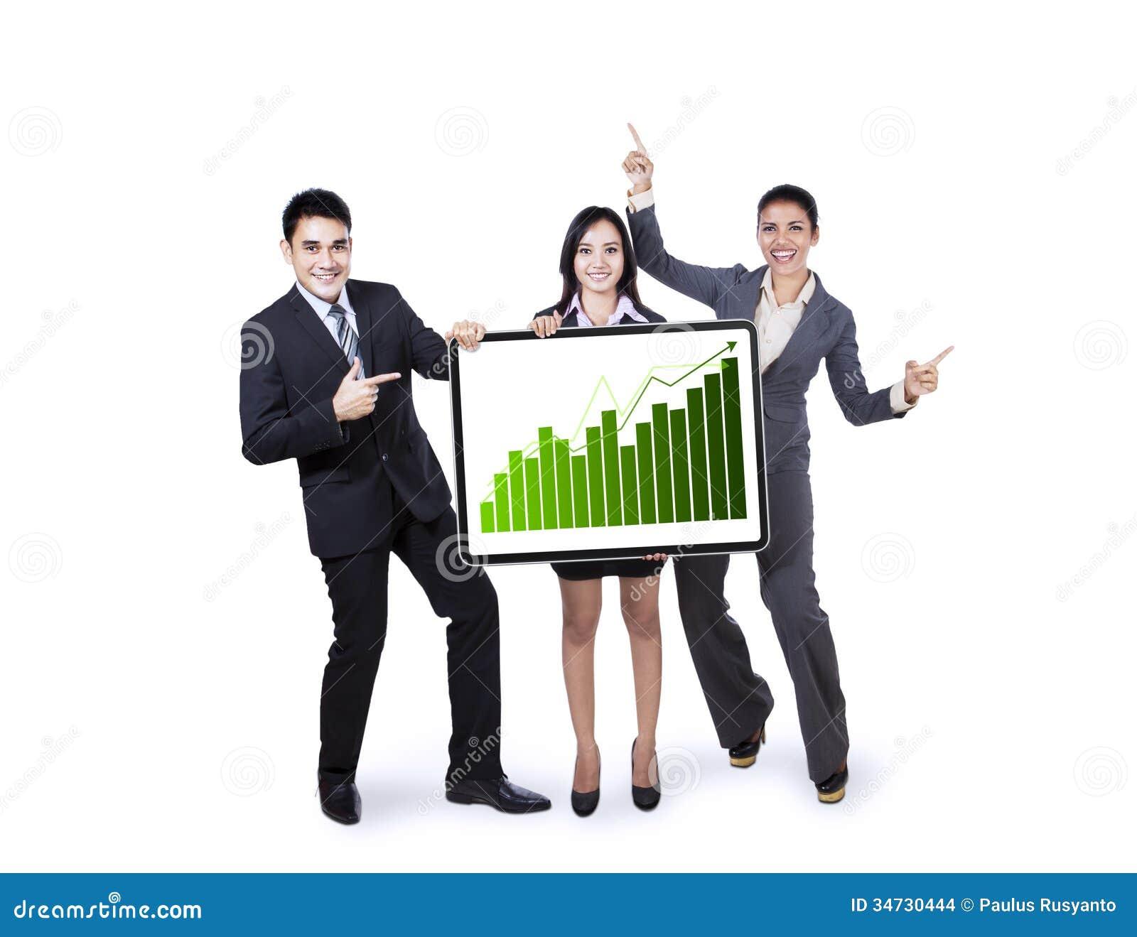 Van de commerciële de groeigrafiek teamholding