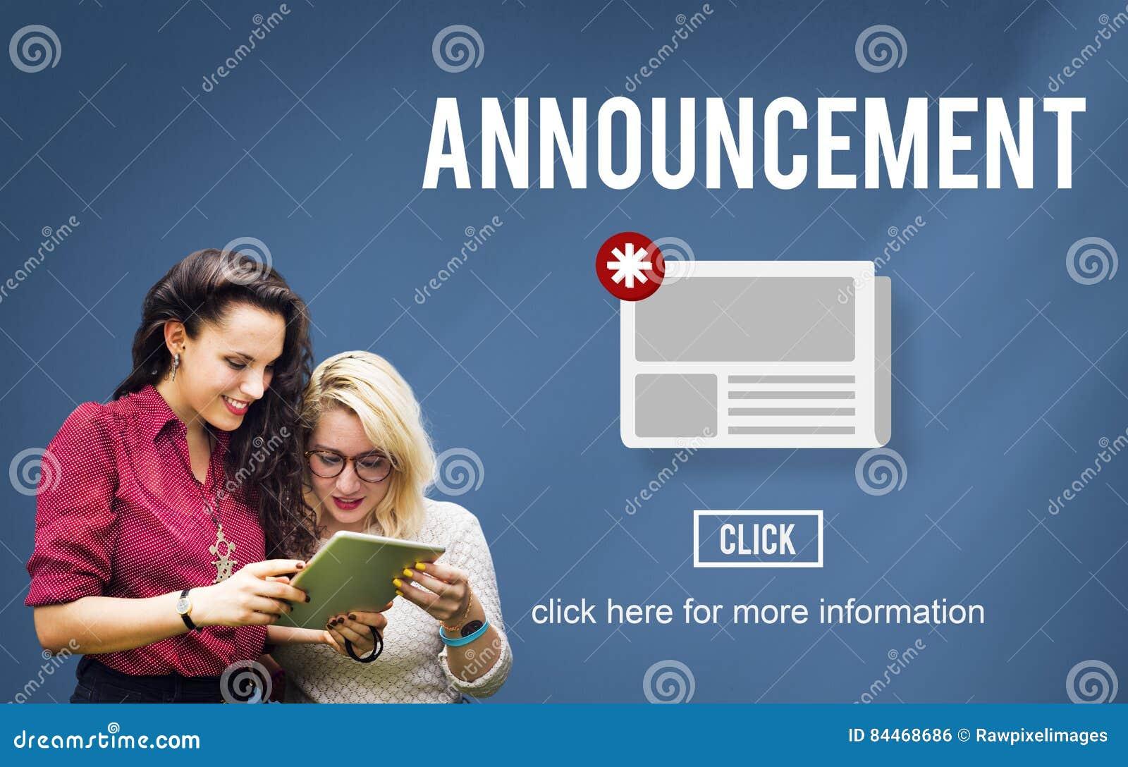 Van de de Aankondigingsupdate van het nieuwsbulletin de Informatieconcept