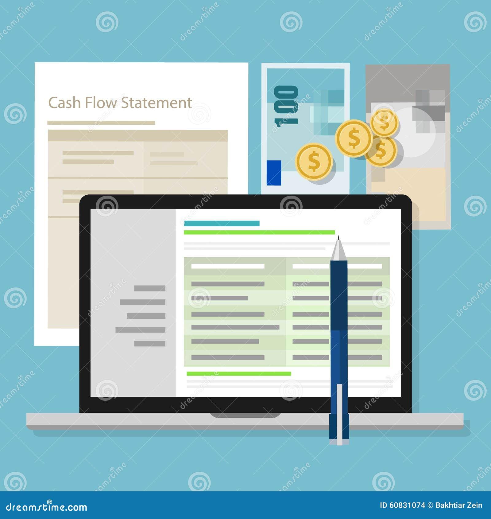 Van de de boekhoudingssoftware van de cash flowverklaring van de het geldcalculator de toepassingslaptop