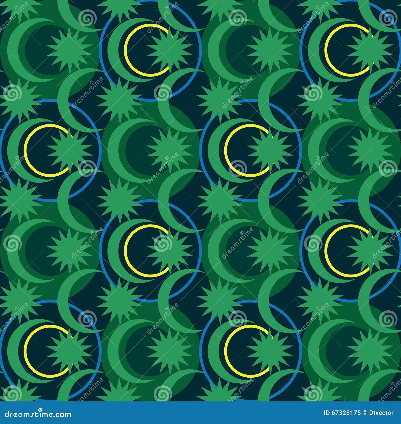 Van de de cirkelbatik van Maleisië de symmetrie naadloos patroon