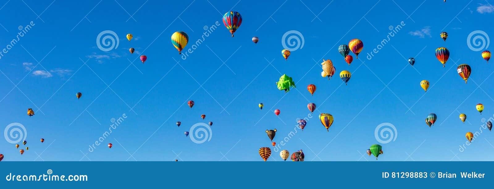 Van de de Hete Luchtballon van Albuquerque de Fiesta 2016