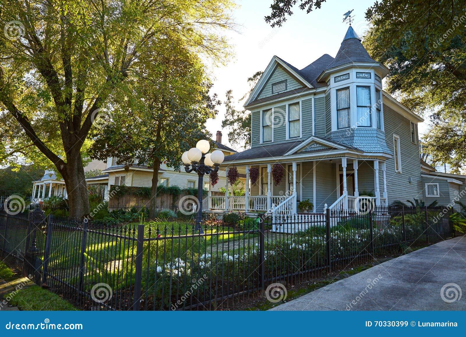 Van de de hoogten victorian stijl van Houston huizen Texas
