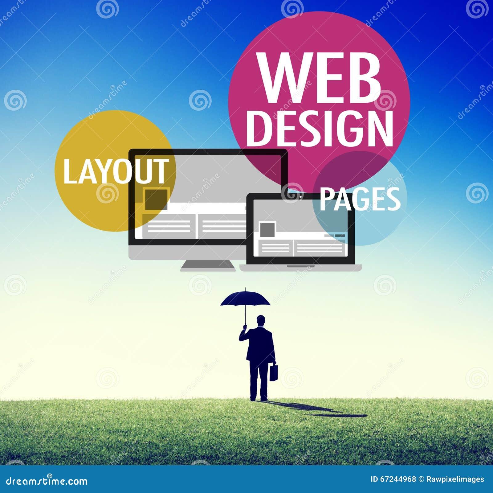Van de de Inhouds het Creatieve Website van het Webontwerp Ontvankelijke Concept