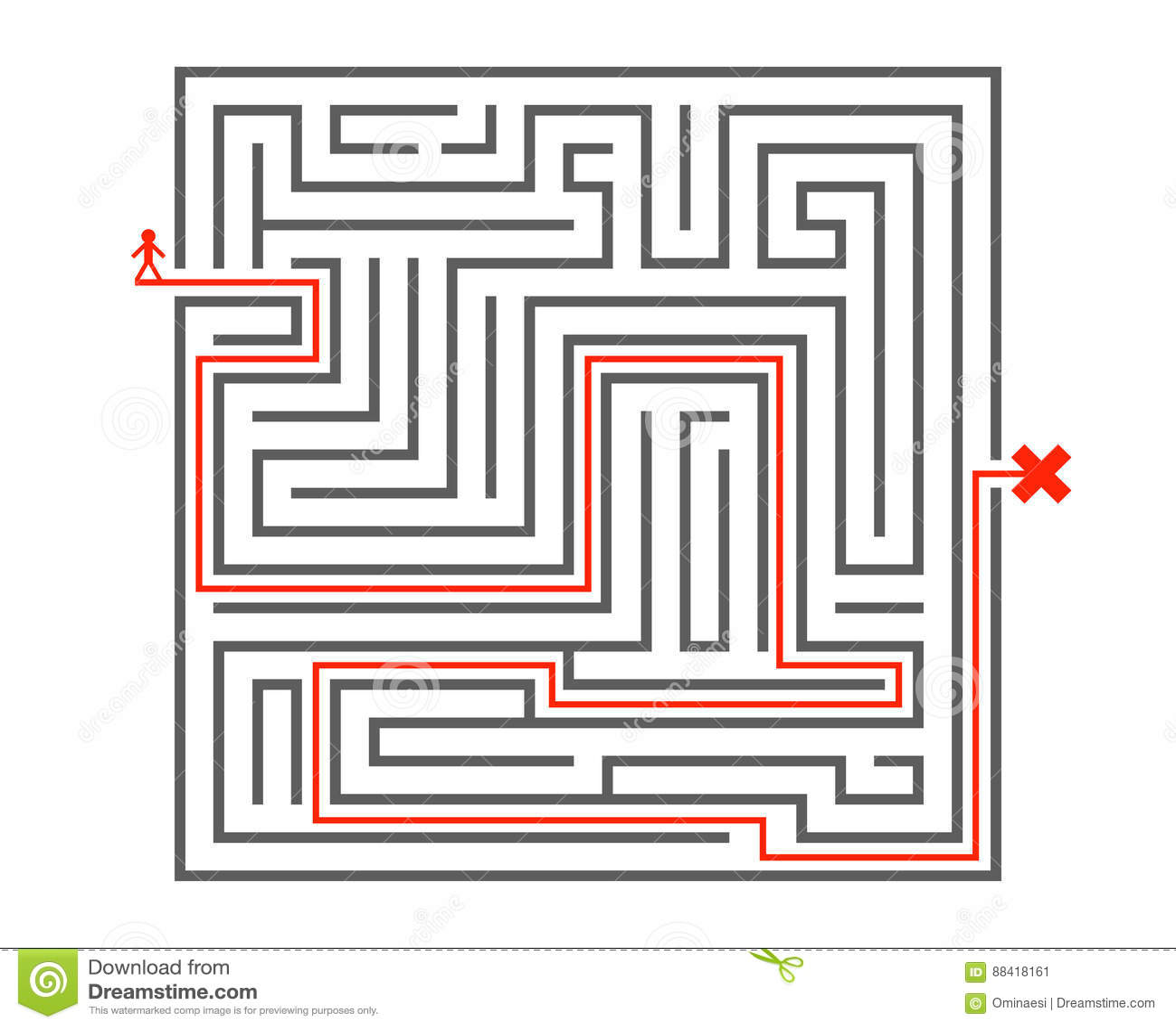 Van de de manieringewikkeldheid van de mensenpas van het van het het achtergrond labyrint de isometrische labyrint vectorillustra