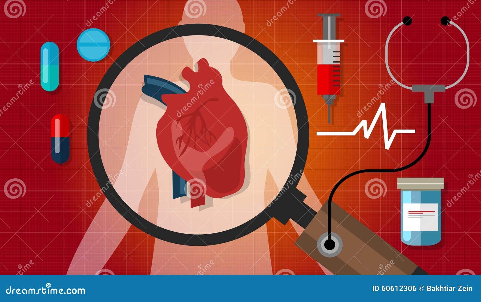 Van de de menselijke gezondhedencardiologie van de hartkwaalaanval het cardiovasculaire pictogram