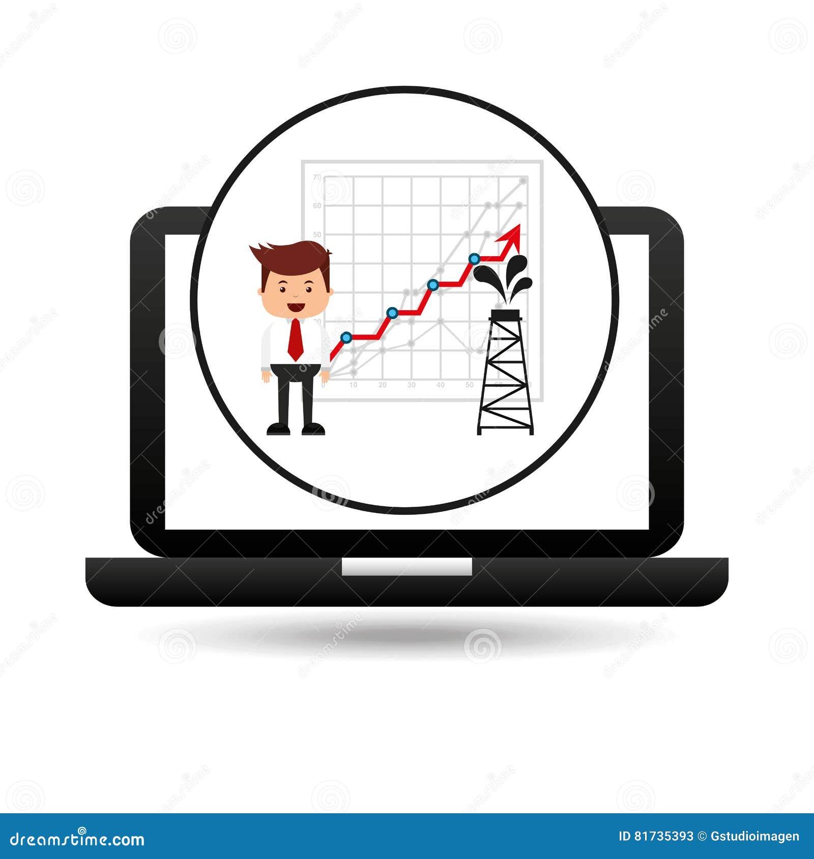 Van de de technologietoren van de zakenmanolie de olieverhoging