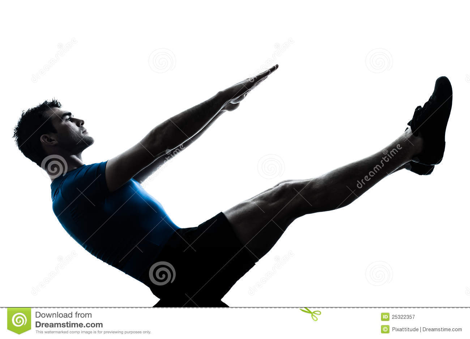 Van de de traininggeschiktheid van de mens de yoga van de de bootpositie
