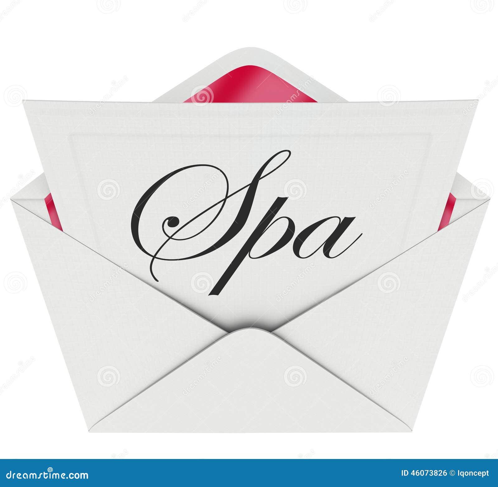 Van de de Uitnodigingsspeciale aanbieding van de kuuroordbrief de Massage van de de Ontspanningsbehandeling