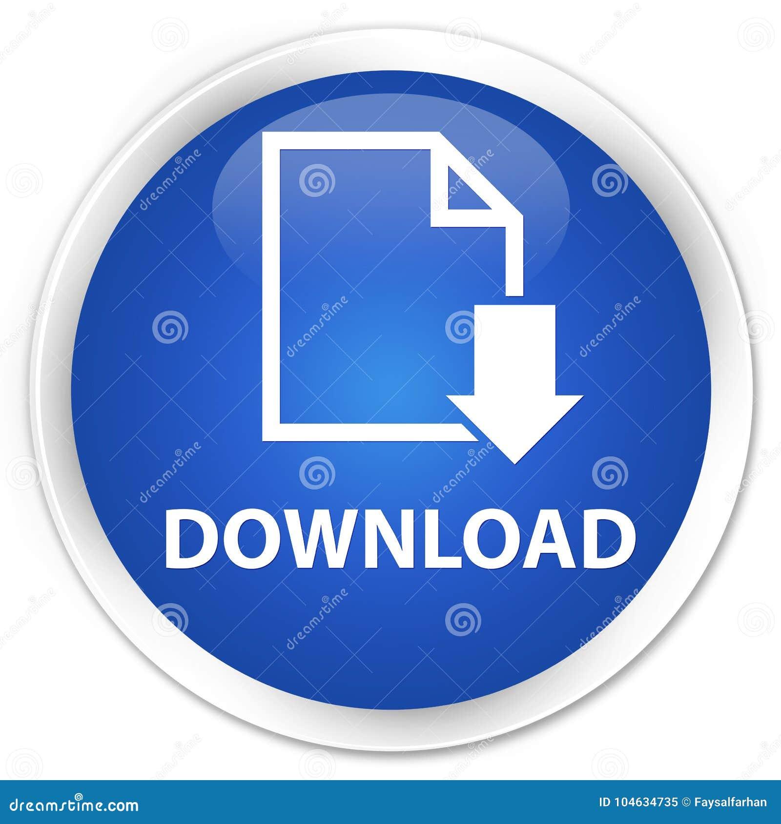 Download Van De Download (documentpictogram) Premie De Blauwe Ronde Knoop Stock Illustratie - Illustratie bestaande uit knoop, sparen: 104634735