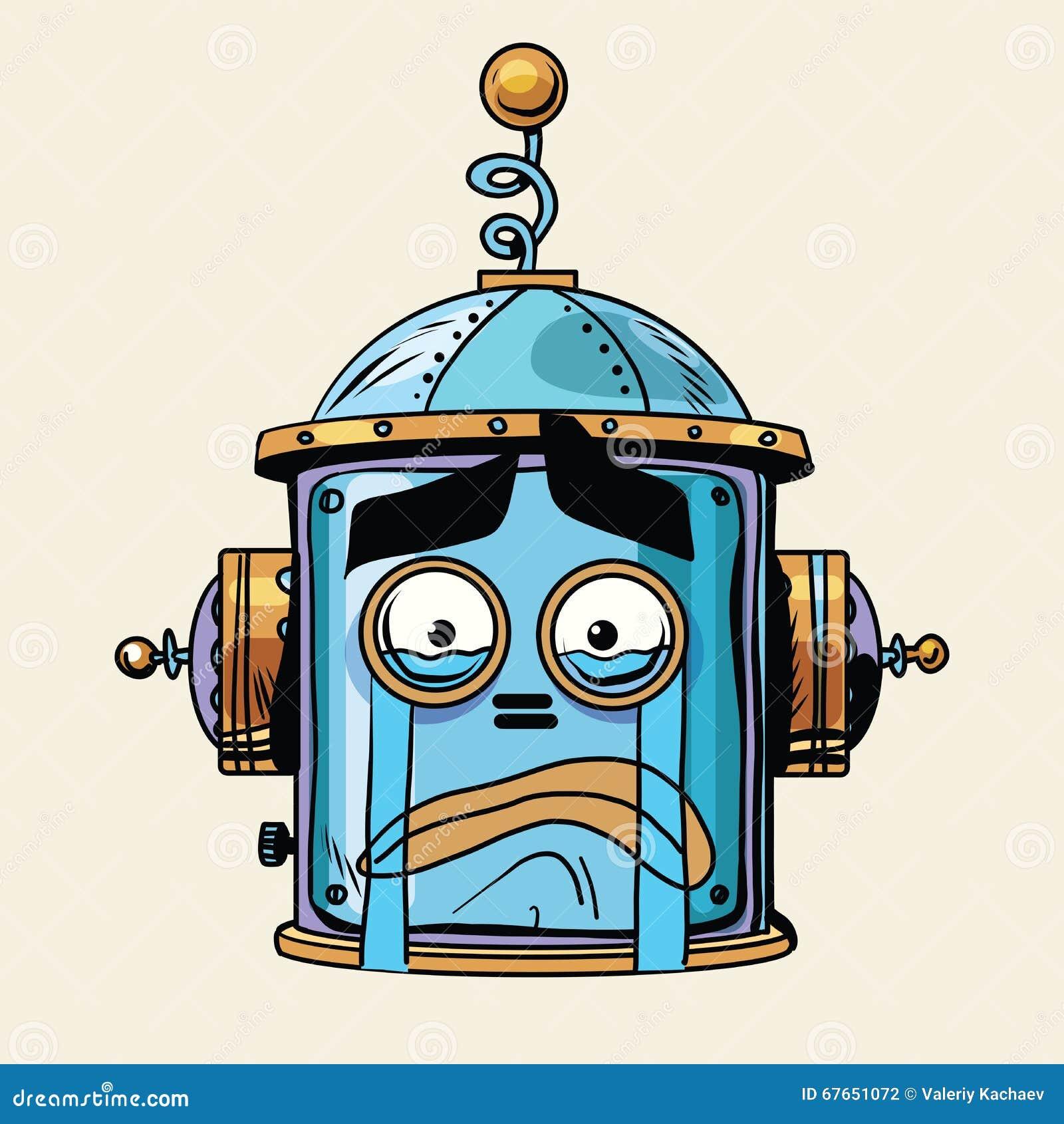 Van de emojirobot van de Emoticonschreeuw hoofdsmileyemotie