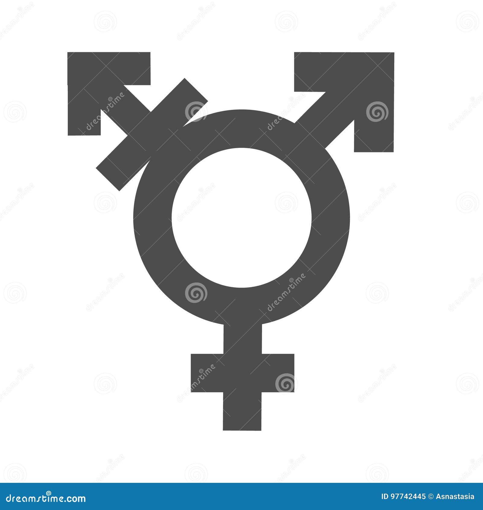 Van de geslachtsongelijkheid en gelijkheid pictogramsymbool Mannelijk Vrouwelijk de vrouwenman van de meisjesjongen transsexueelp