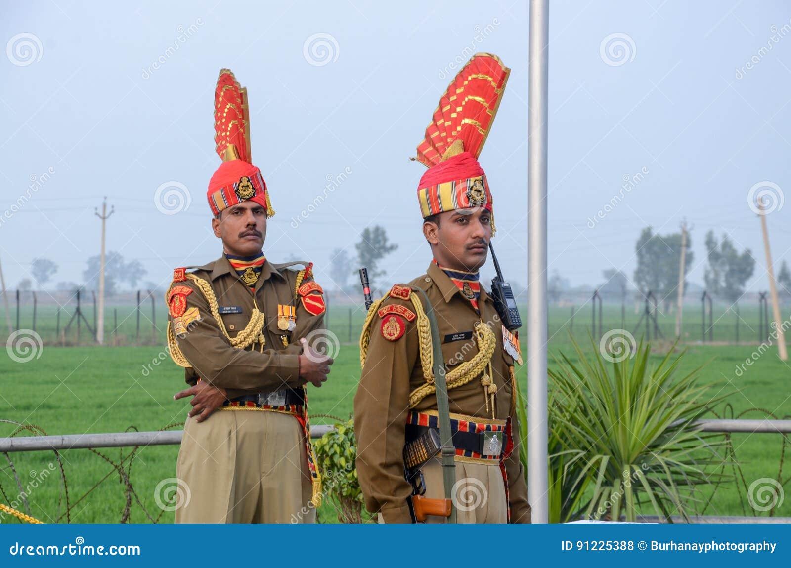 Van de Grenswagha van Pakistan India de Grens Lahore Pakistan