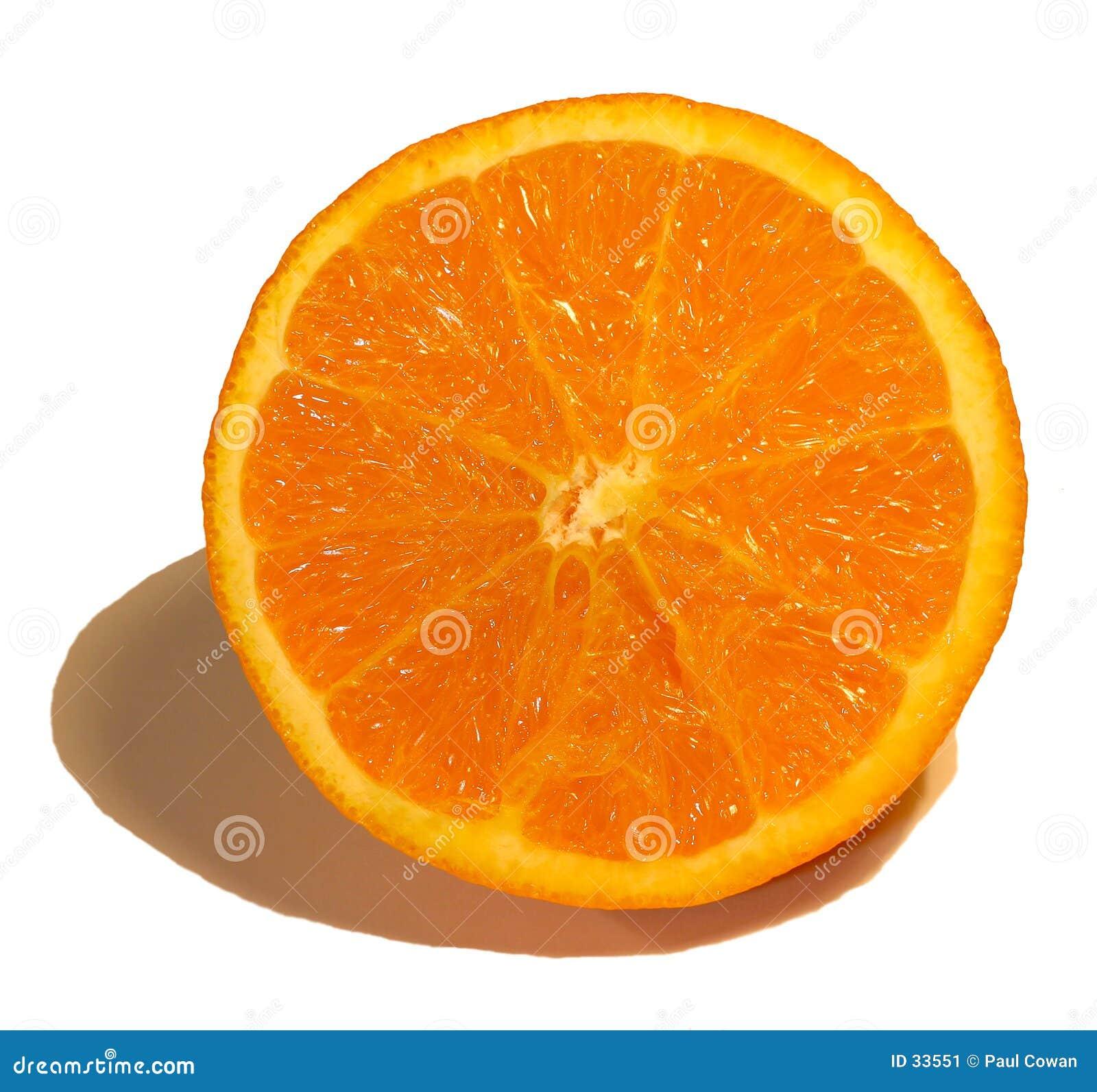 Van de helft van sinaasappel