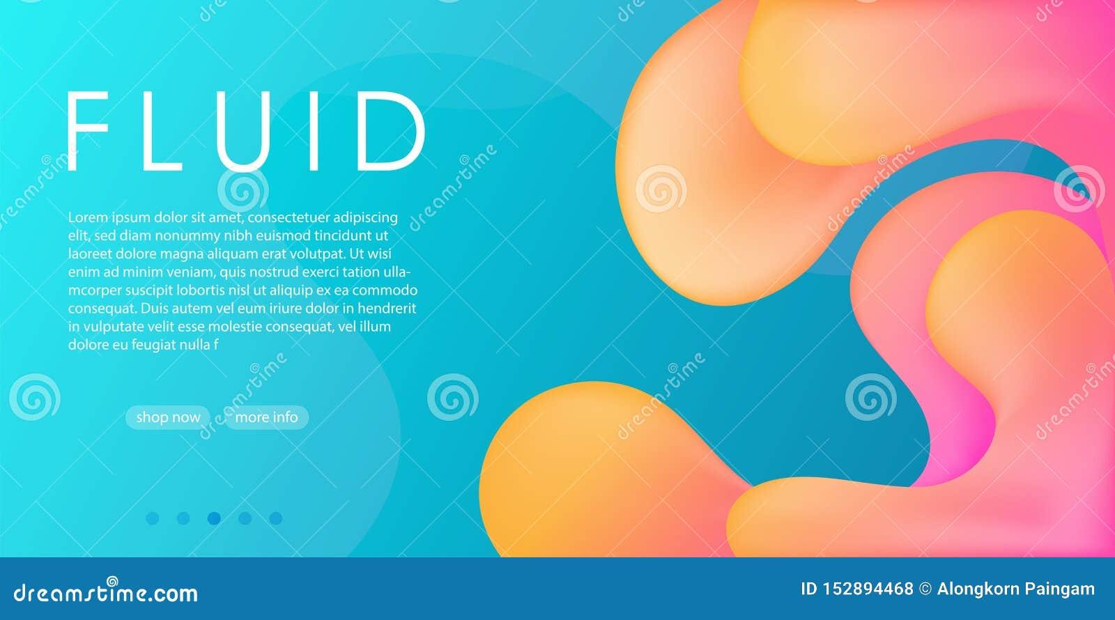 Van de de hemel blauwe gele roze vloeibare stroom van de elegantiereclame de gradiënt abstracte achtergrond, het modieuze Web soc