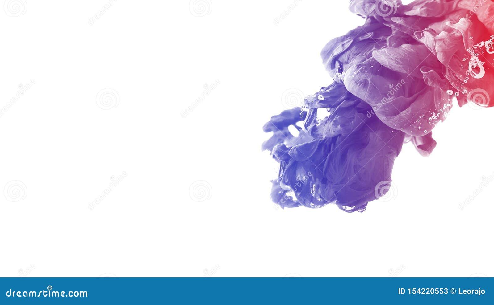 Van de het achtergrond waterkleur van de inktdaling abstracte motie creatieve rust