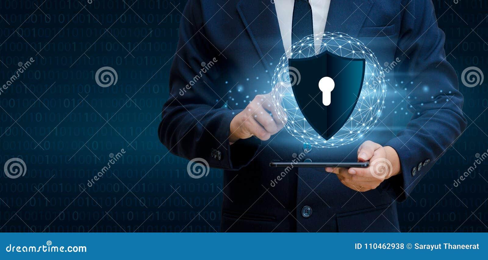 Van de het bedrijfs netwerkplaneet van de aardeveelhoek de handen de Wereld van de mensenschok beschermen informatie in cyberspac