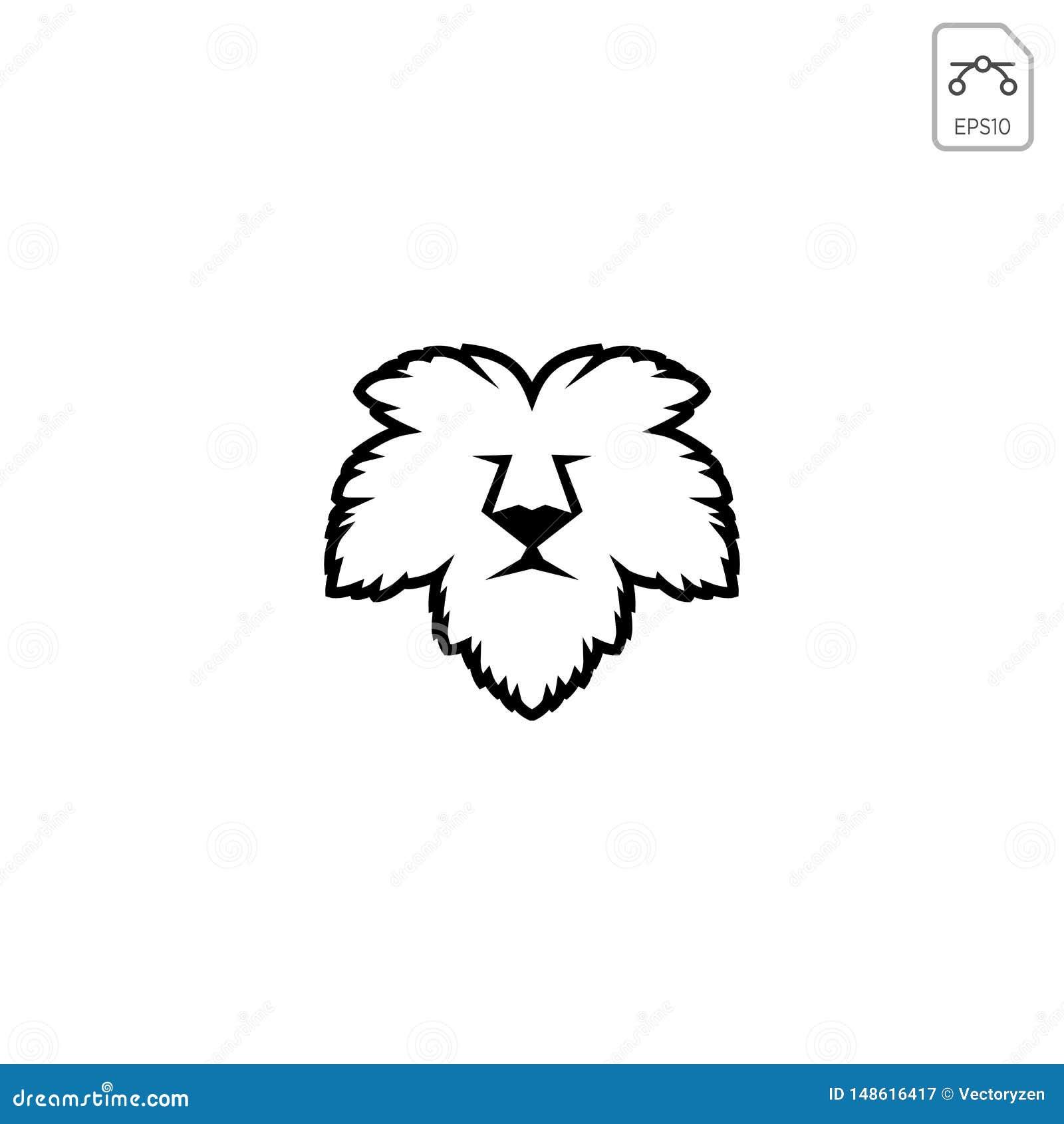 Van de het bladaard van het leeuwgezicht van het het embleemmalplaatje vector geïsoleerd het pictogramelement