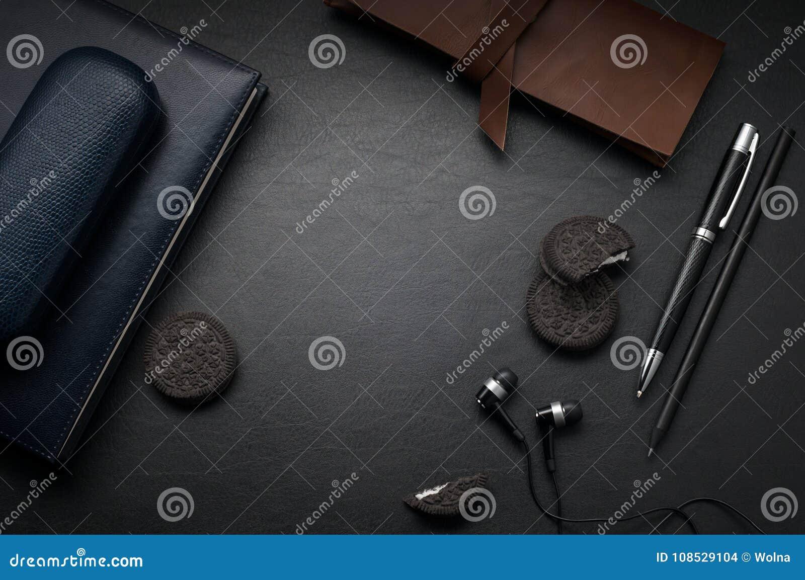 Bol nooblu pebl leren bureau onderlegger zwart leer