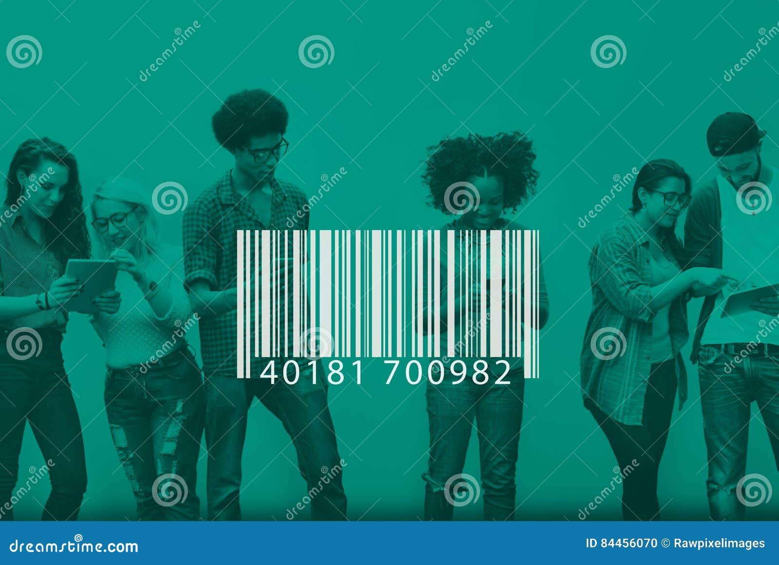 Van de het Etiketencryptie van de streepjescodeidentificatie de Markeringsconcept