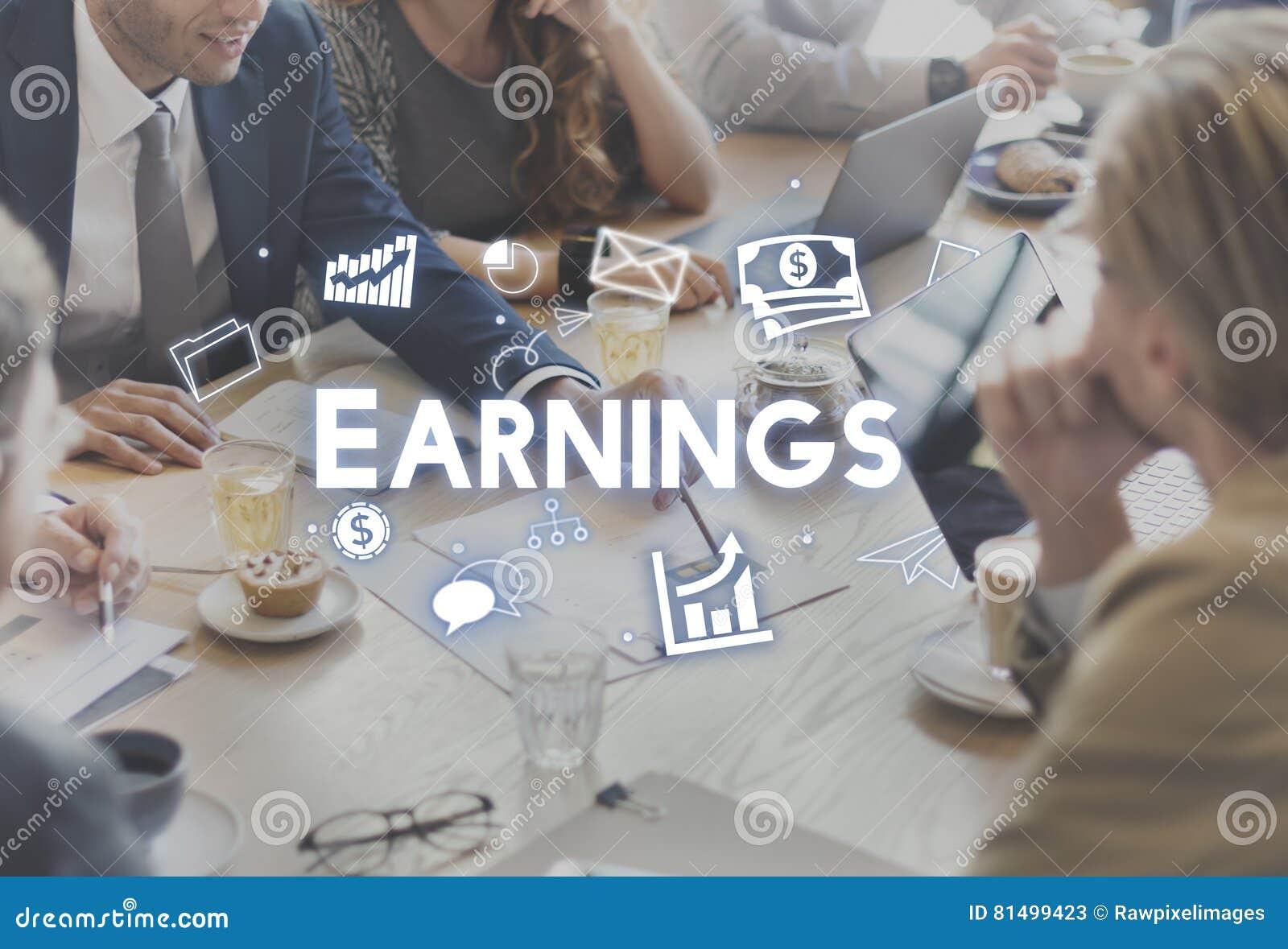 Van de het Inkomens Financieel Economie van winstinkomens de Opbrengsconcept