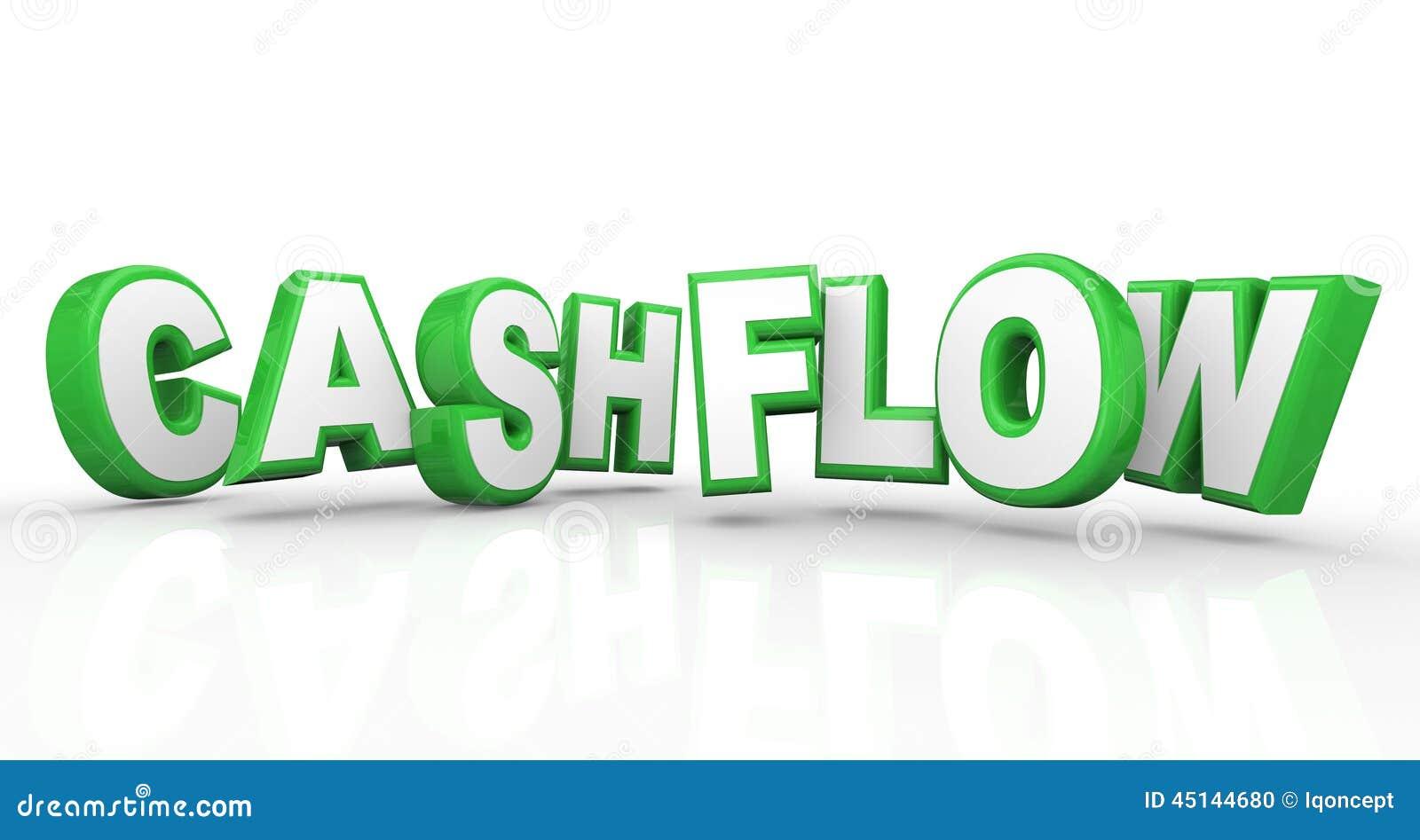 Van de het Inkomensopbrengst van cash flow 3d Woorden Inkomens van het de Stroomgeld