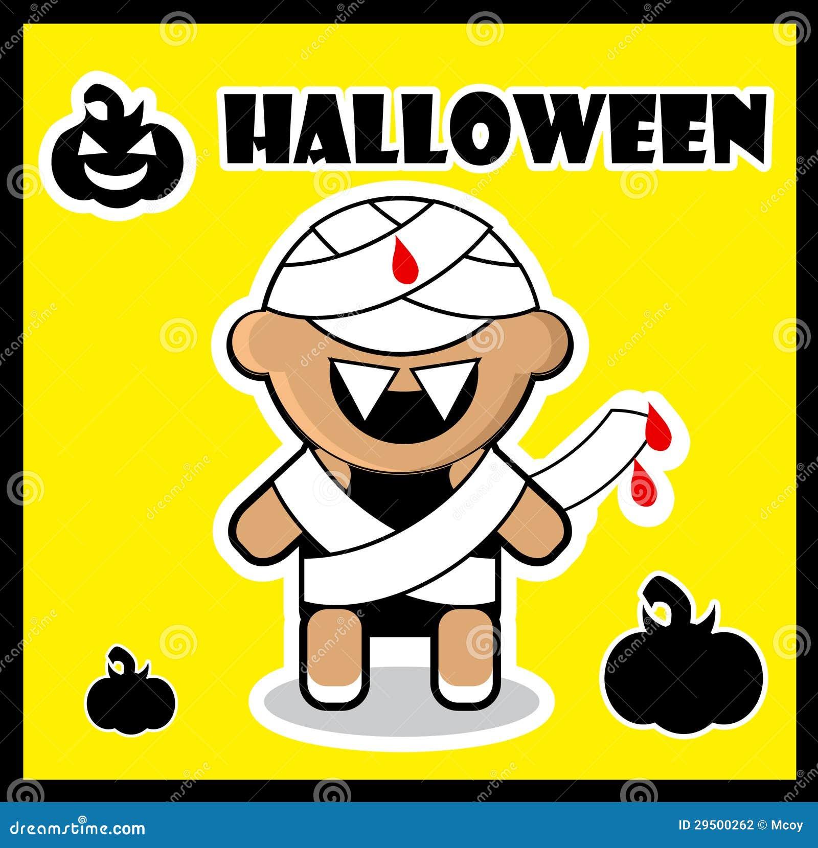 Van de het pictogramZombie van Halloween van de de kaartaffiche van de Brij de achtergrond Leuke Hallowe