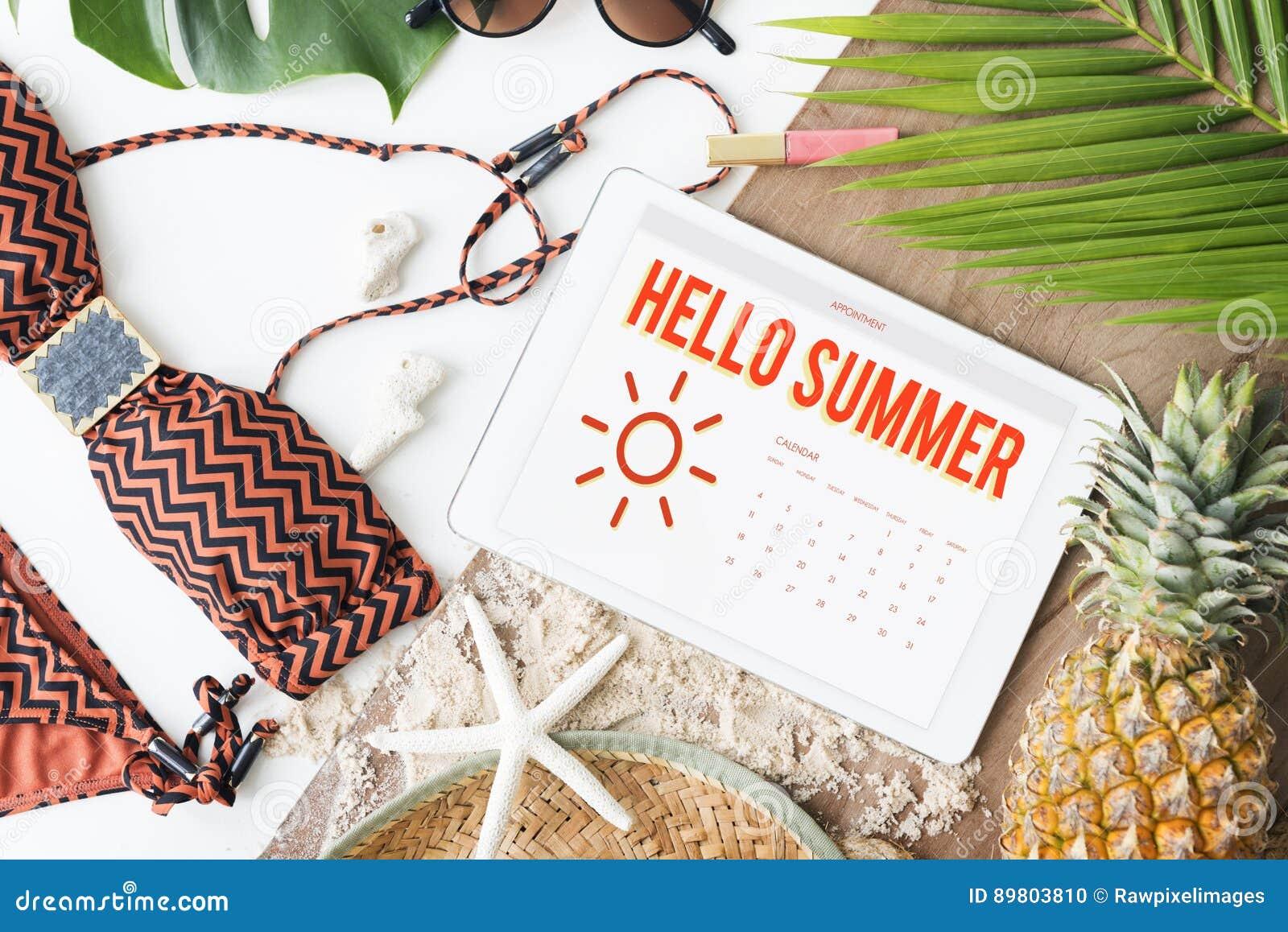 Van de het Programmapret van de de zomerkalender het Gelukconcept