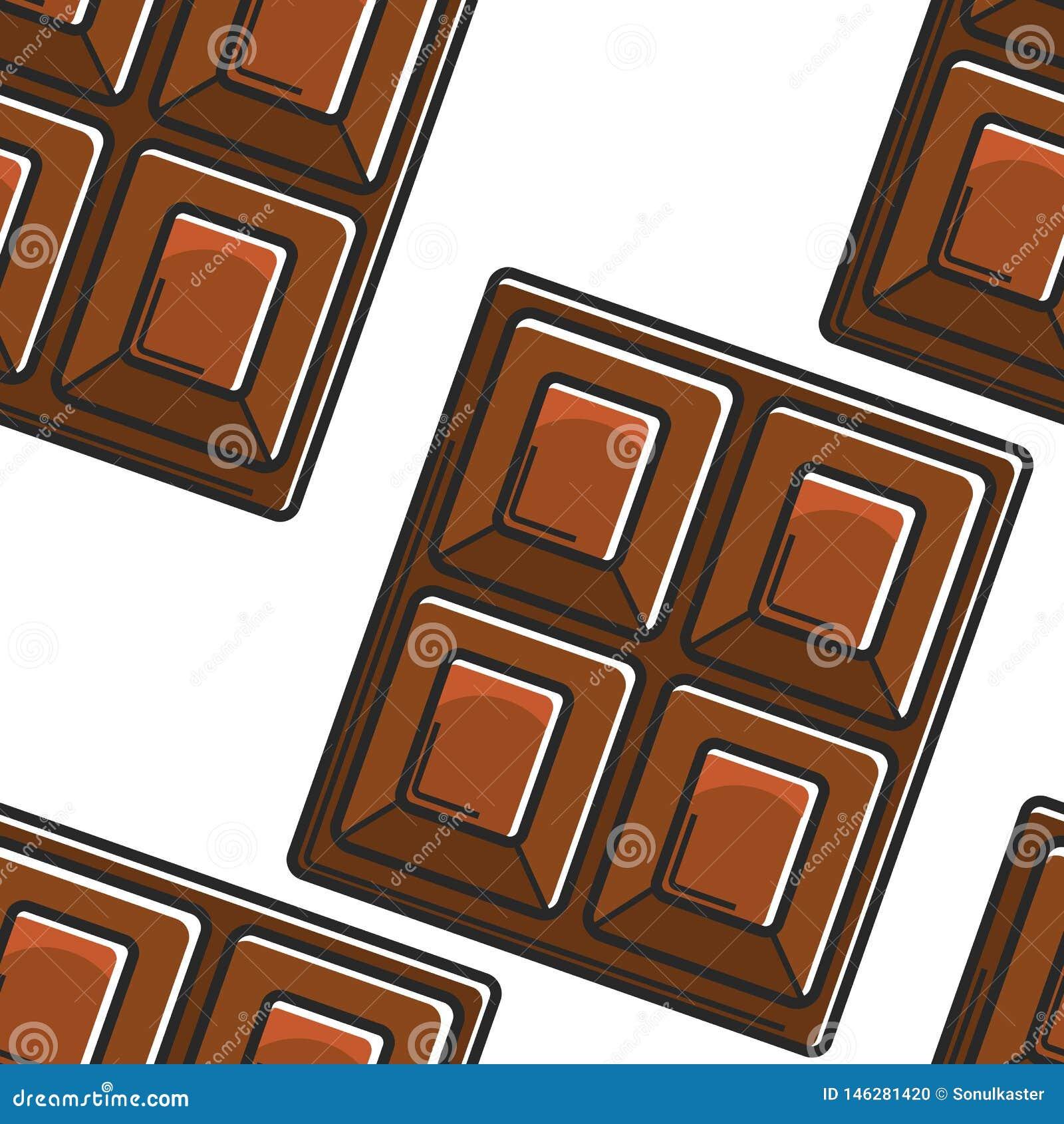 Van de het voedselchocoladereep van Zwitserland het traditionele naadloze patroon