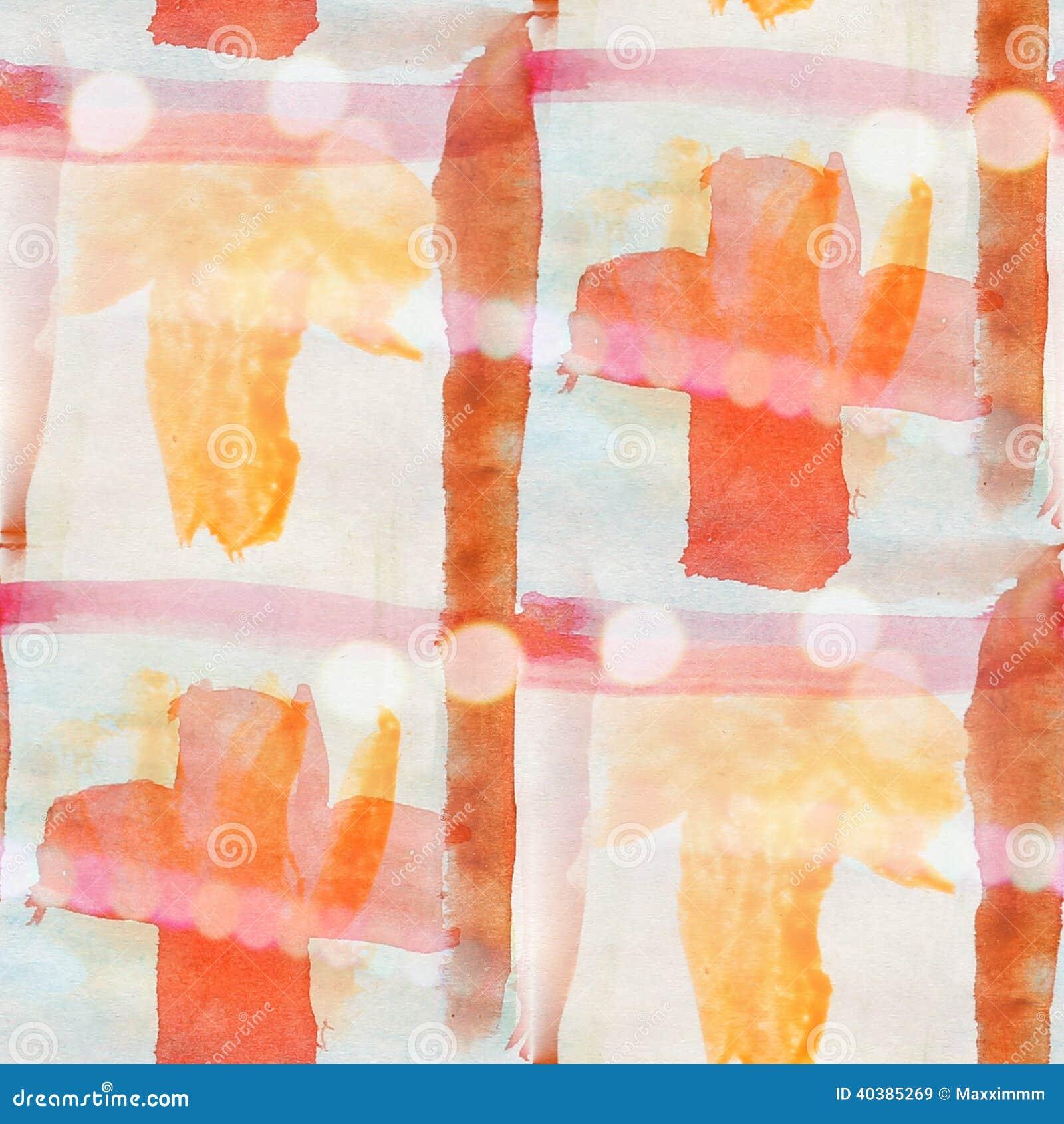 Van de het watertextuur van het Bokeh kleurrijk patroon de verf abstract blauw, rood Se