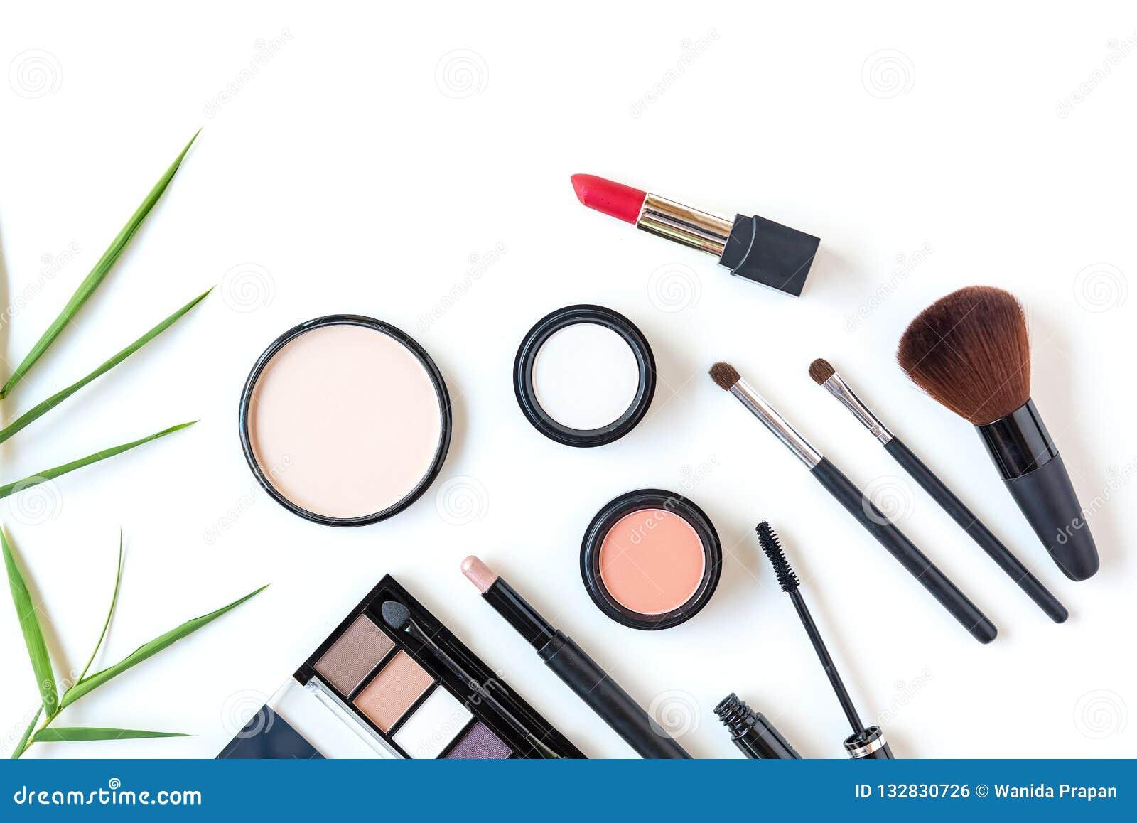 Van de de hulpmiddelen de achtergrond en schoonheid van make-upschoonheidsmiddelen schoonheidsmiddelen, de producten en de gezich