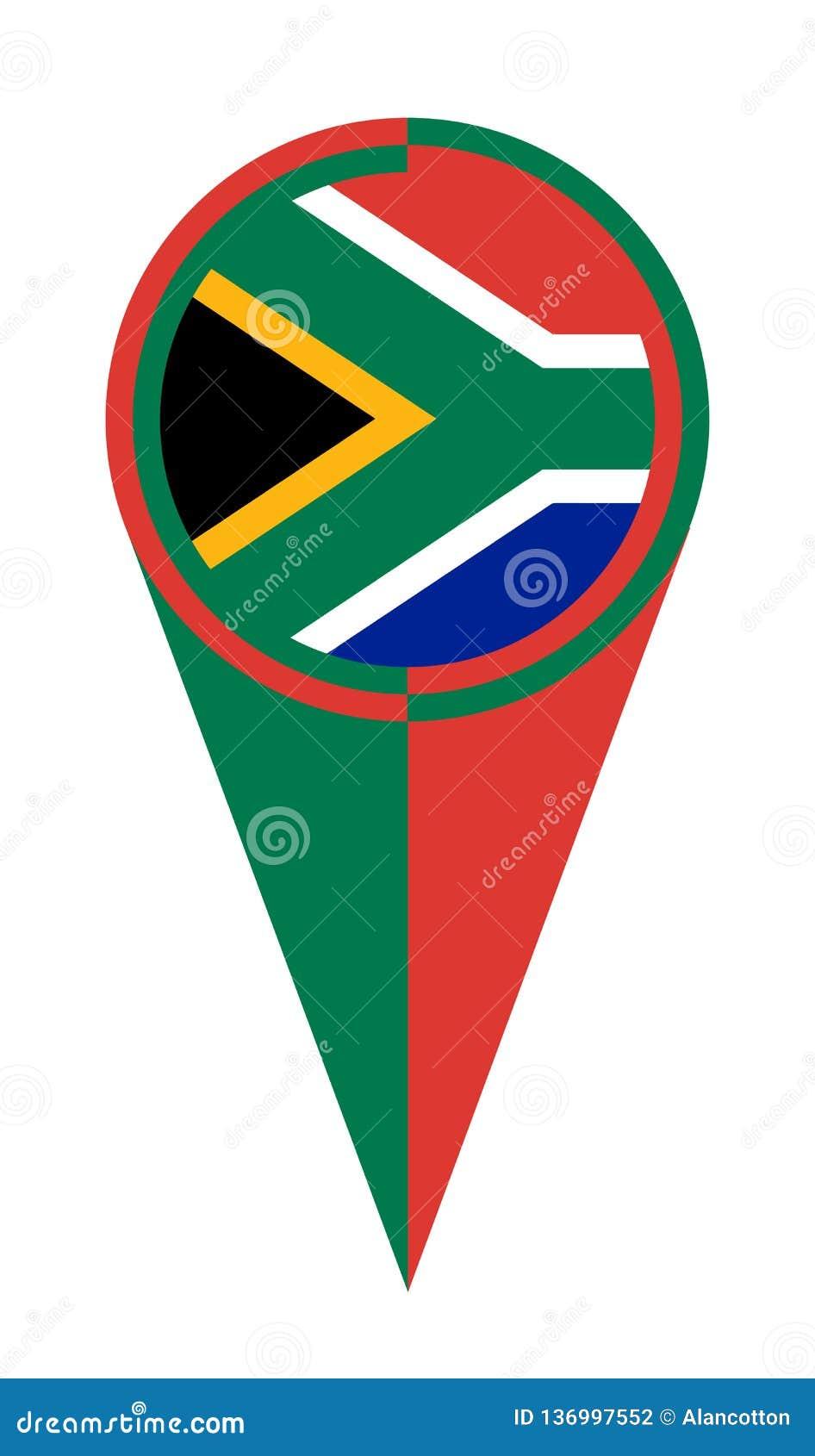 Van de de Kaartwijzer van Zuid-Afrika de Plaatsvlag