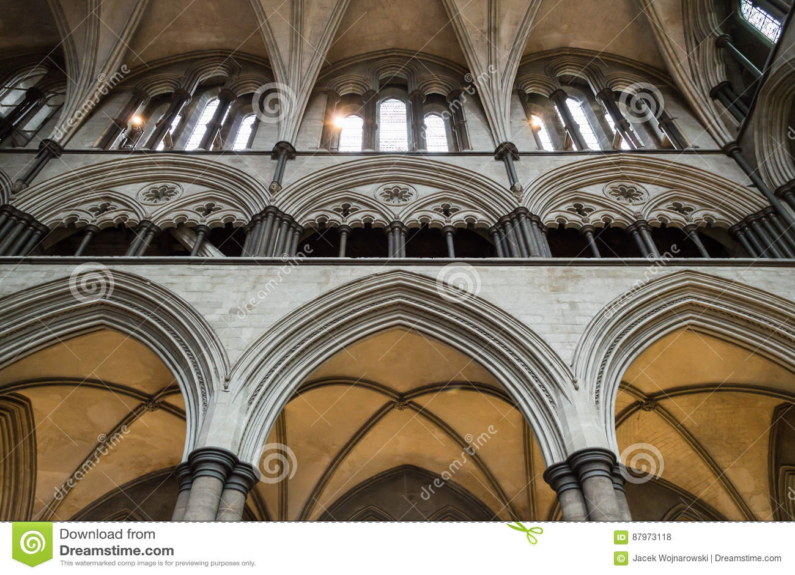 Van de Kathedraaltriforium van Salisbury de Galerij C